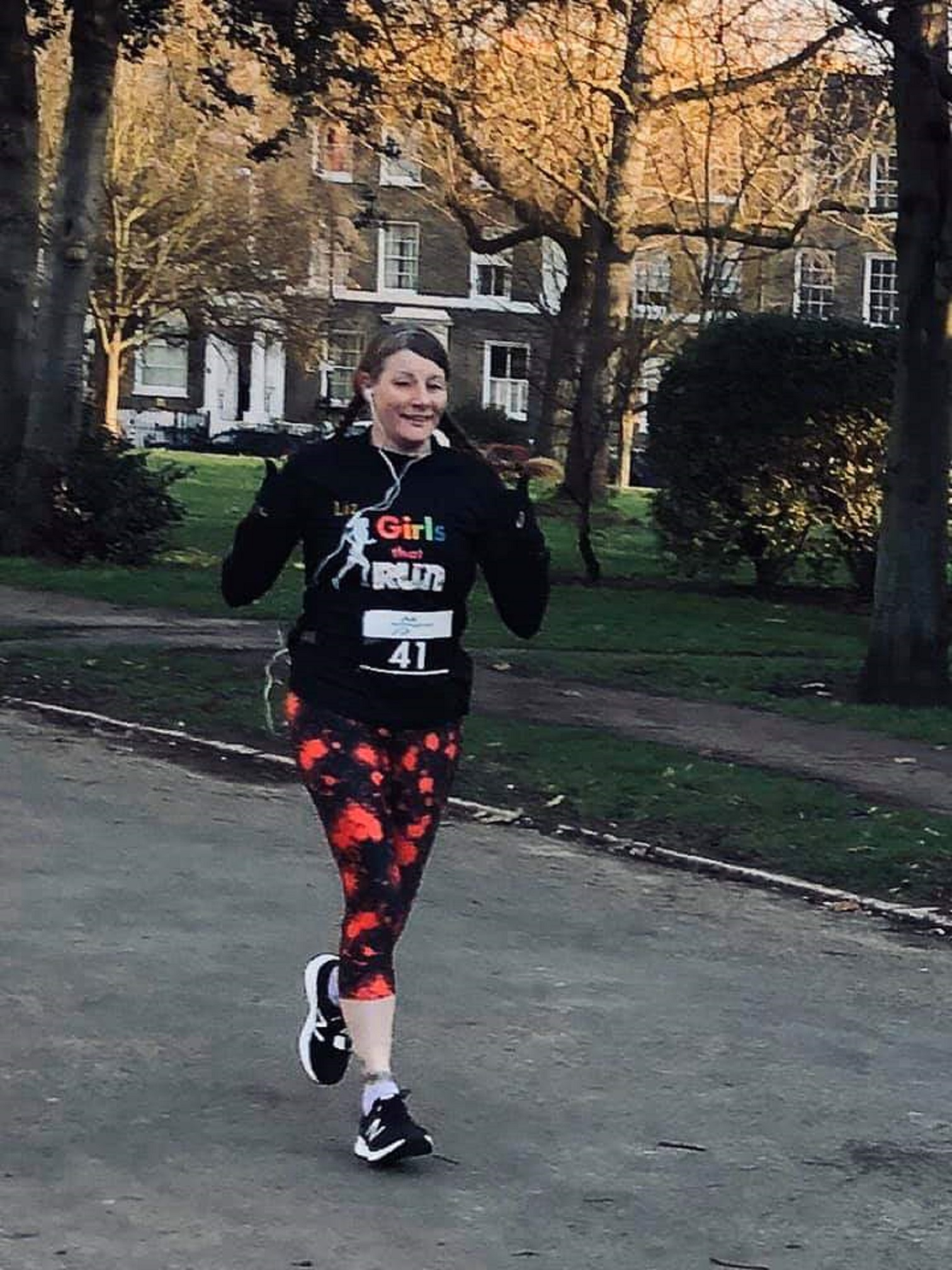 Liz Ayres, who ran as a pacer during the 2019 London Marathon