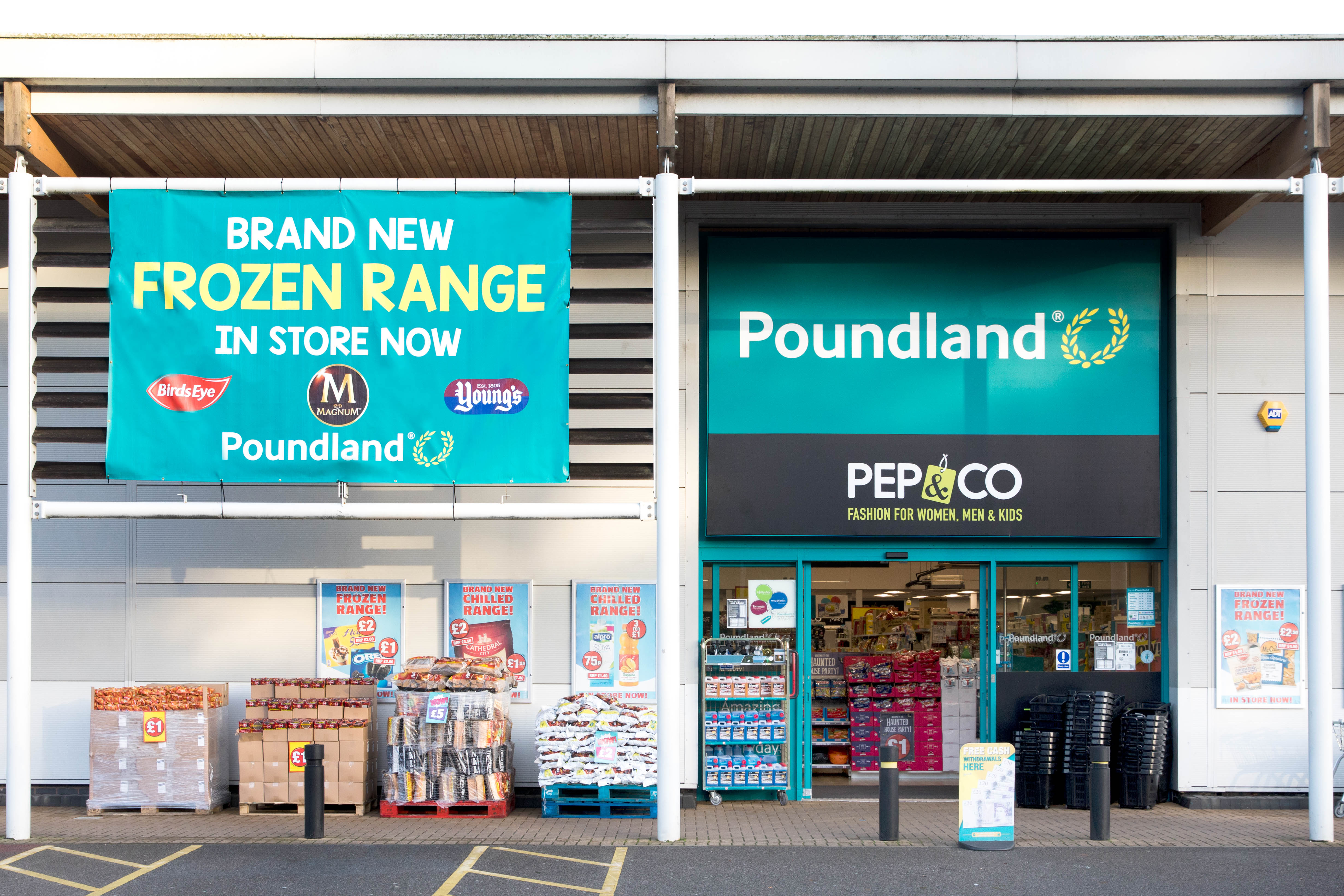 Poundland storefront with new frozen range