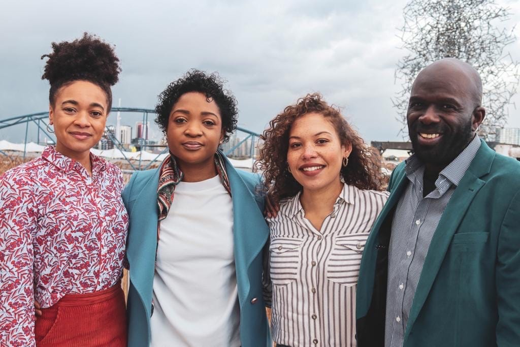 Black Swimming Association founders Alice Dearing, Danielle Obe, Seren Jones and Ed Accura