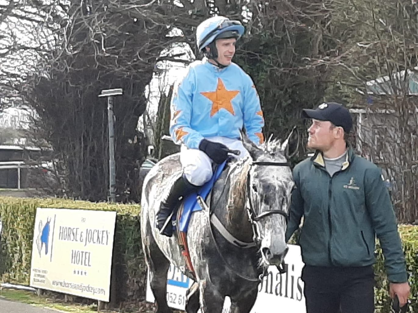 Bachasson after winning at Clonmel (Alan Magee/PA)