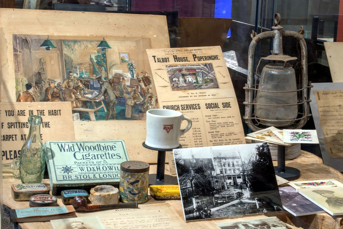 Items on display at the Talbot House Museum