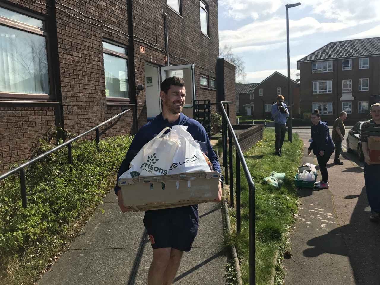 Blackburn Rovers Community Trust have helped deliver food packages across the town