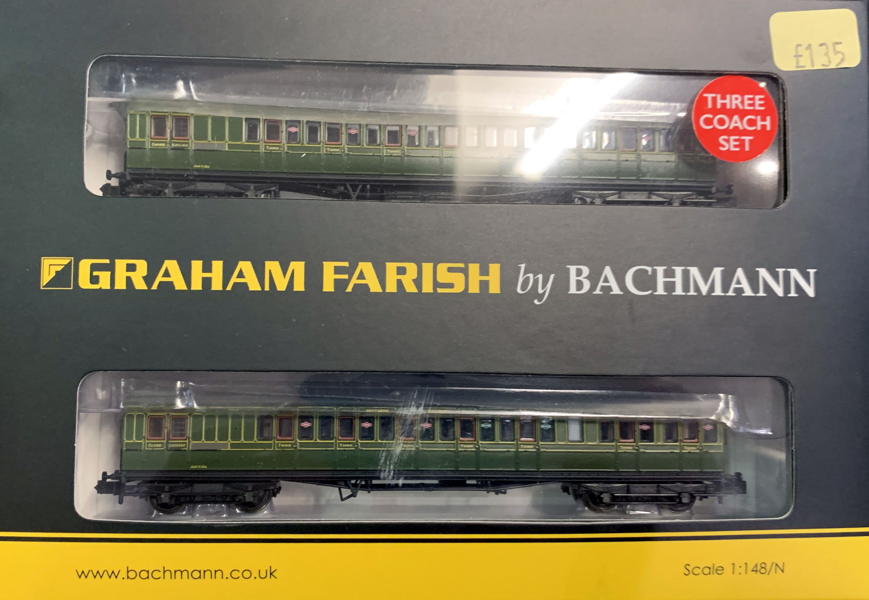 A set of Graham Farish by Bachmann model railway carriages which were among the items stolen (Gloucestershire Police/PA)