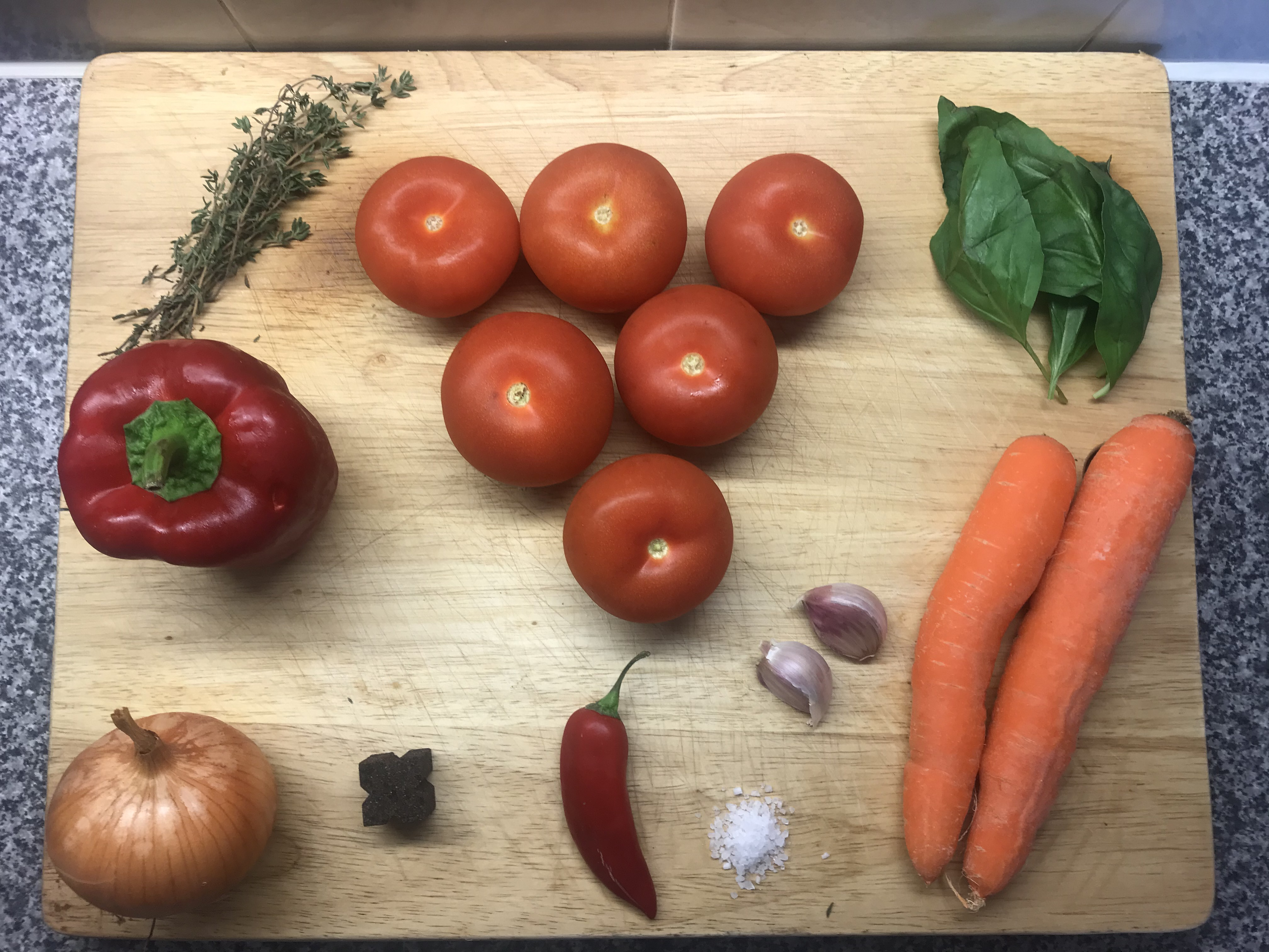 Ingredients for a ragu