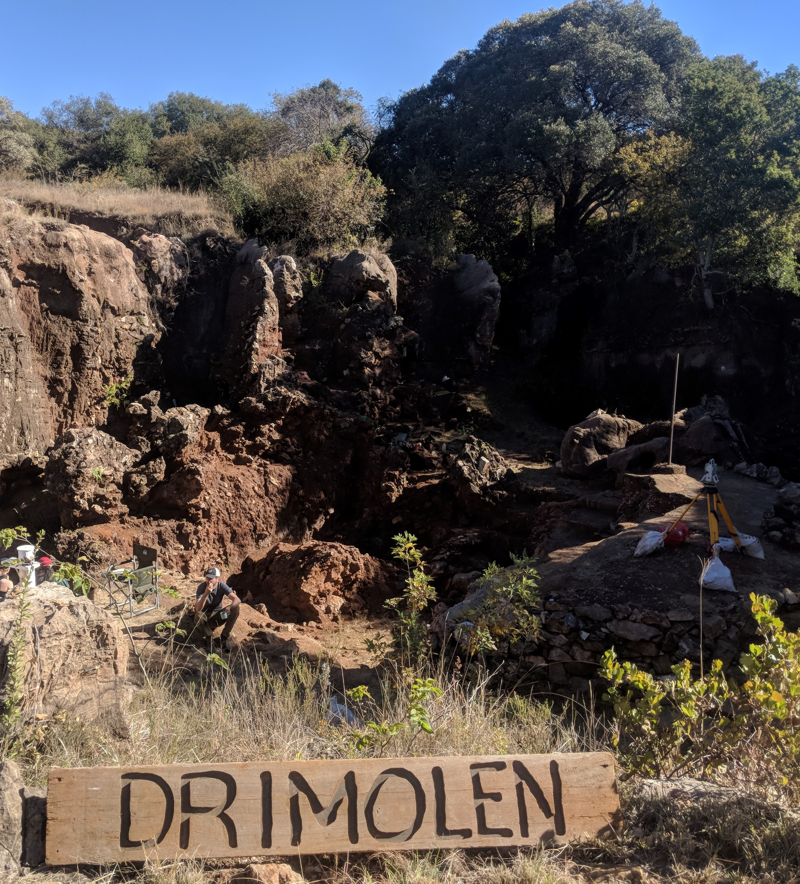The Drimolen fossil site in the Cradle of Humankind, near Johannesburg
