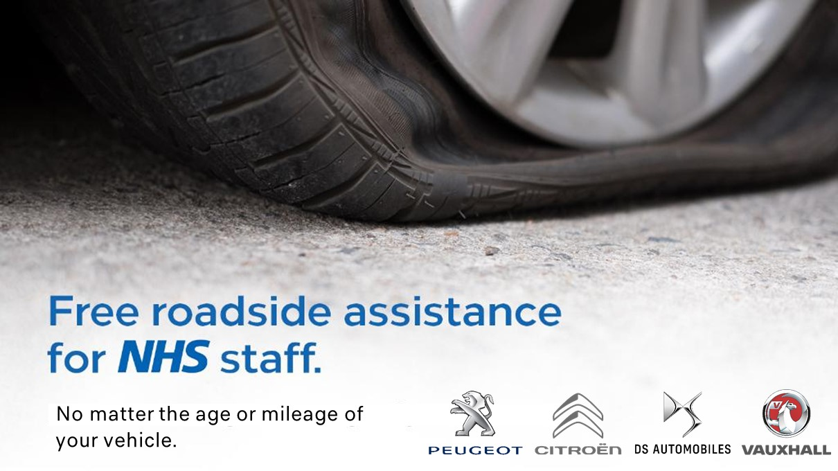 NHS offered roadside assistance by Groupe PSA