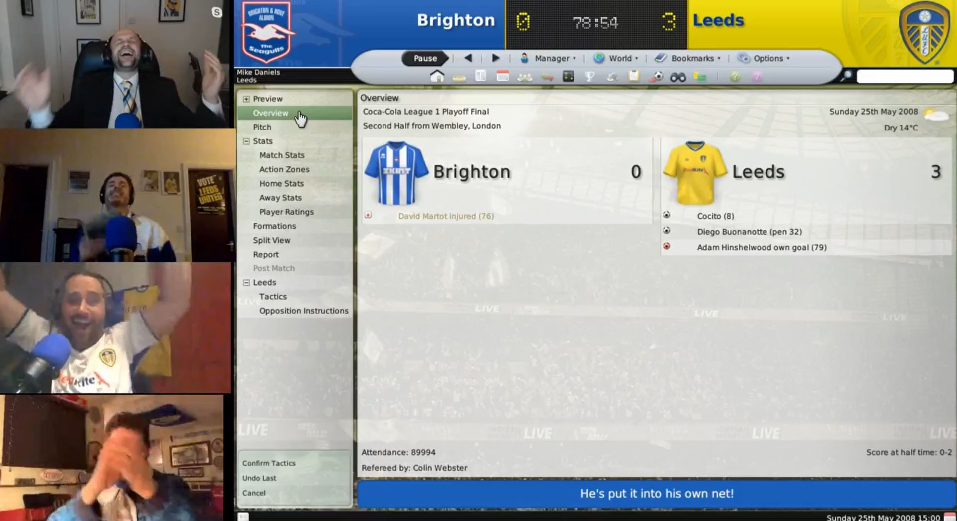 The Square Ball's Football Manager marathon