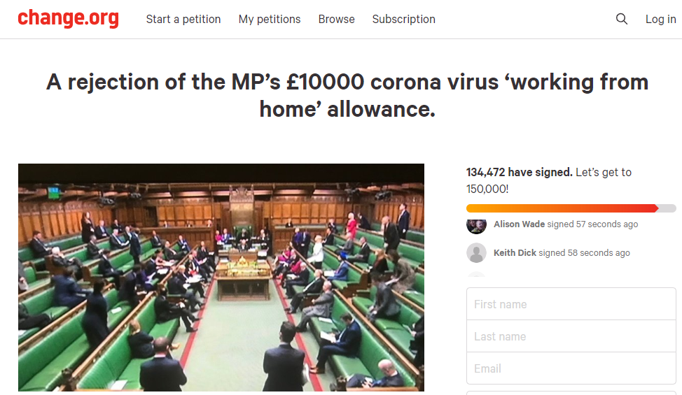 The petition has been signed by more than 130,000 people