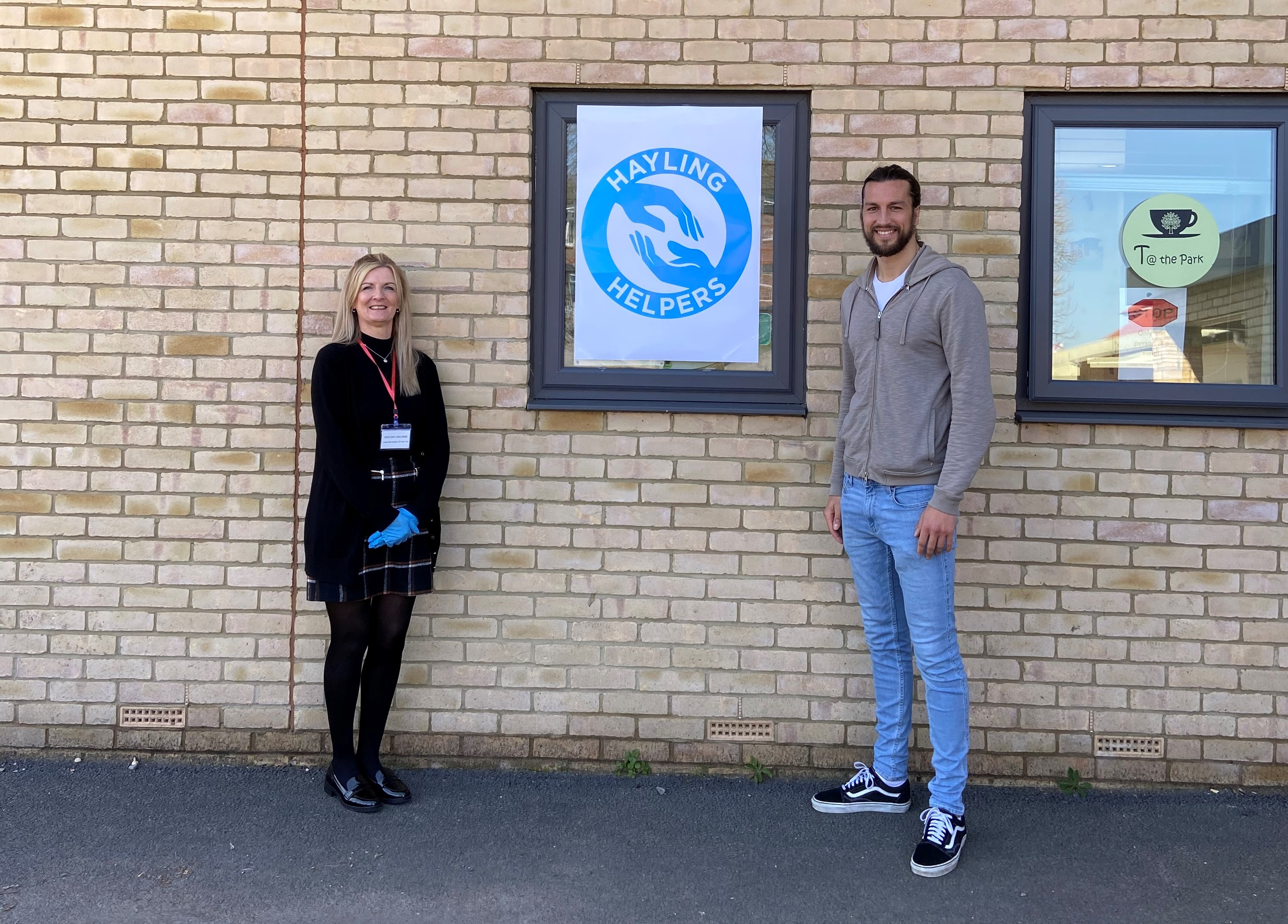 Portsmouth's Christian Burgess has been volunteering with Hayling Helpers