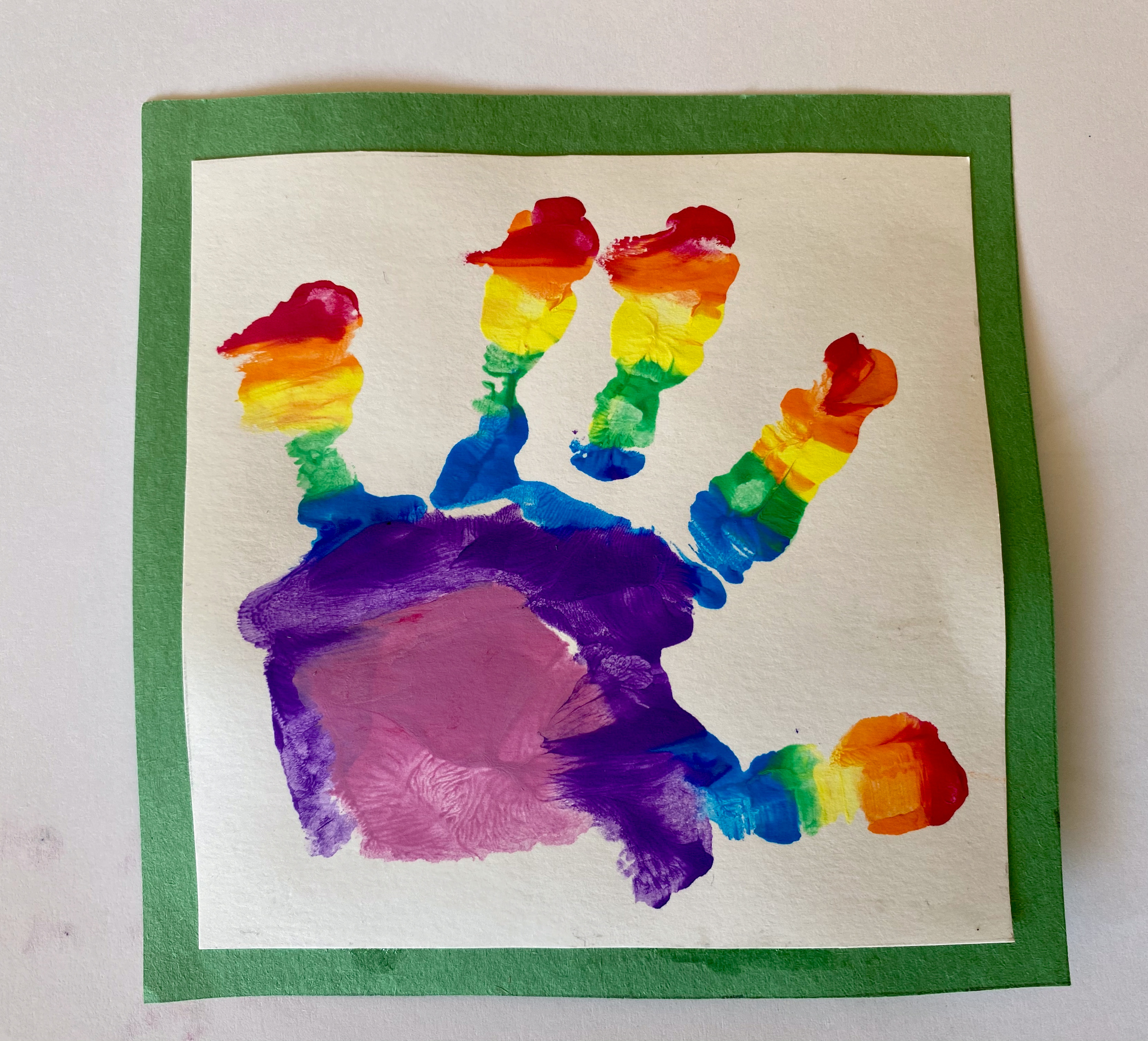Prince Louis' rainbow handprint poster - a symbol of hope. Duchess of Cambridge
