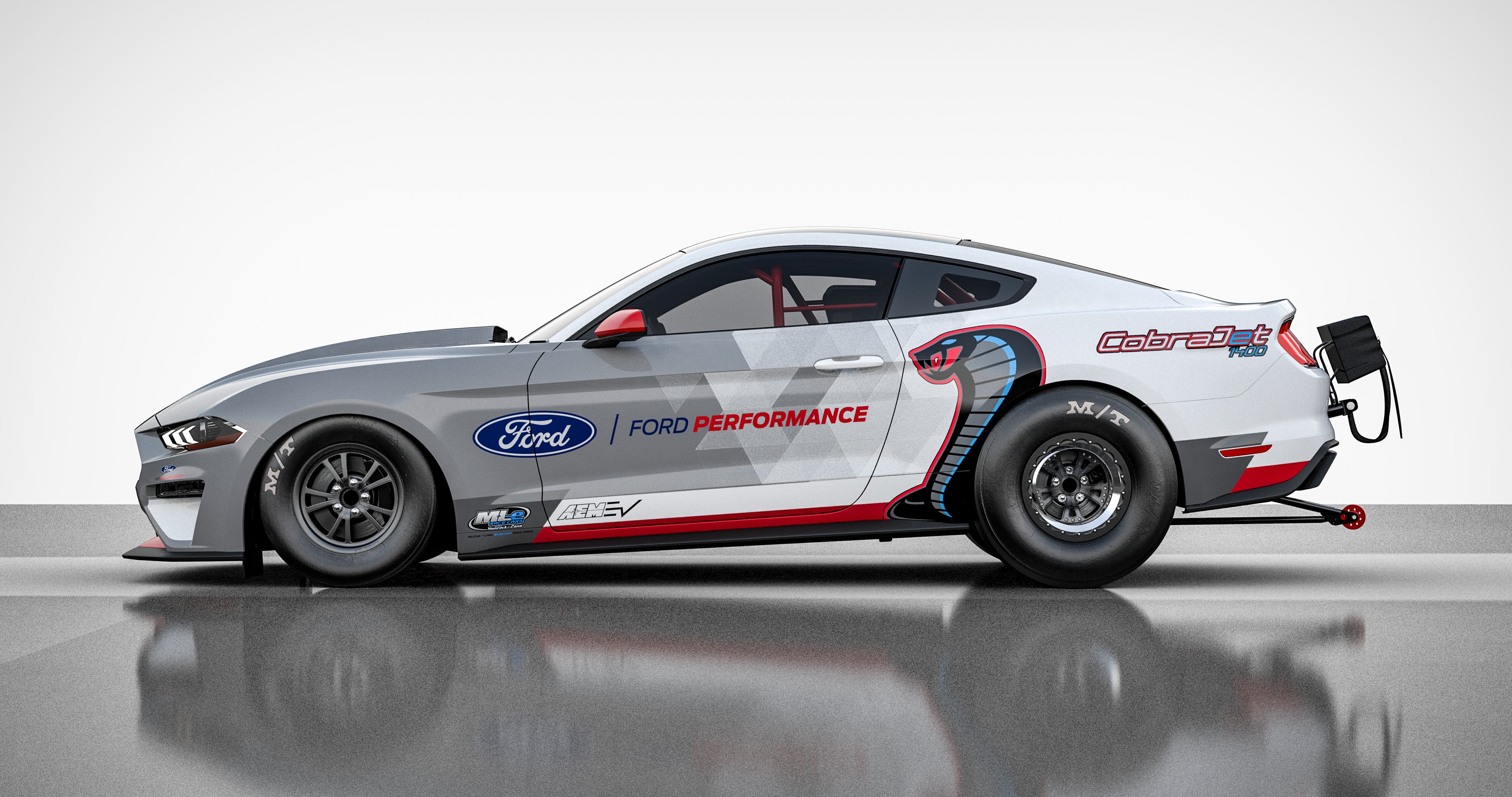 Mustang drag racer