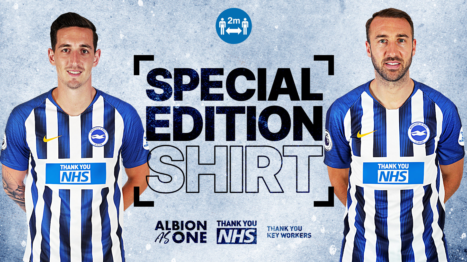 Brighton's special edition home shirt