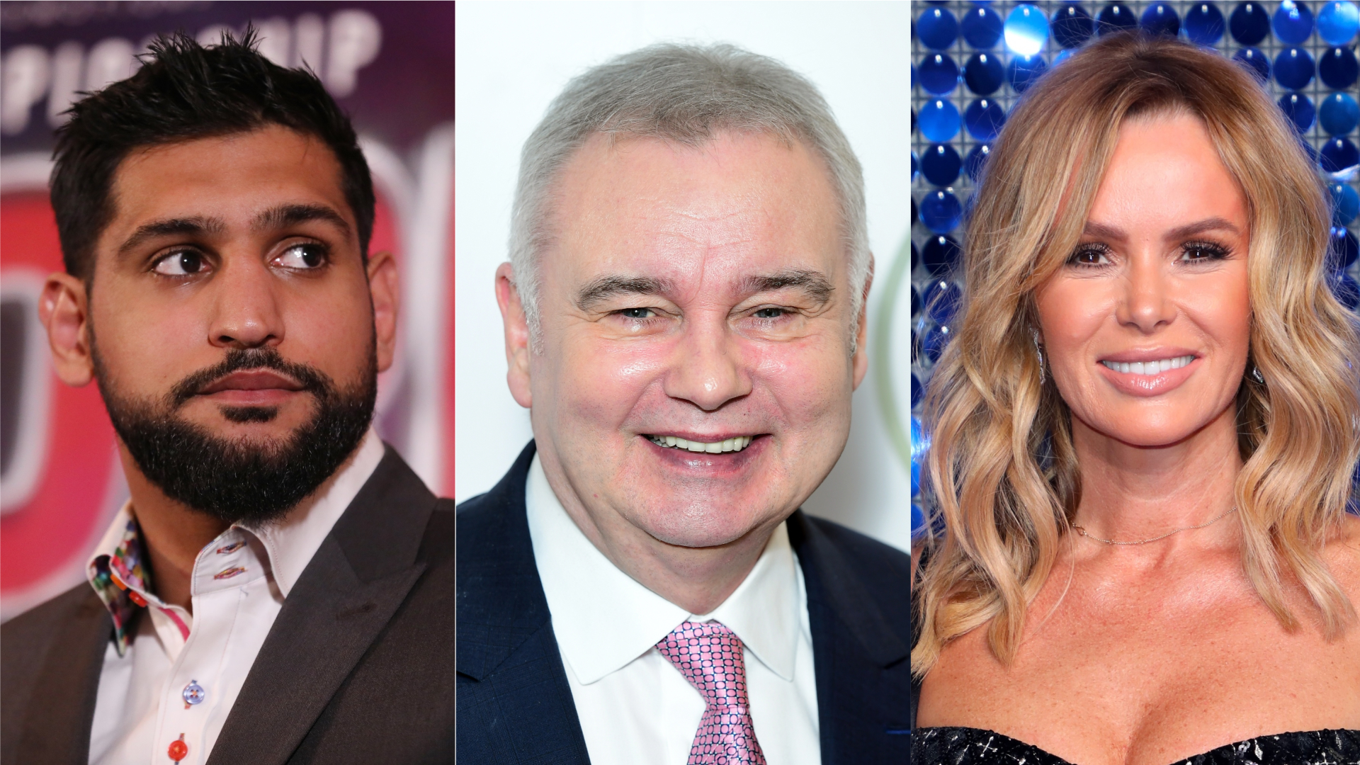 Amir Khan, Eamonn Holmes and Amanda Holden