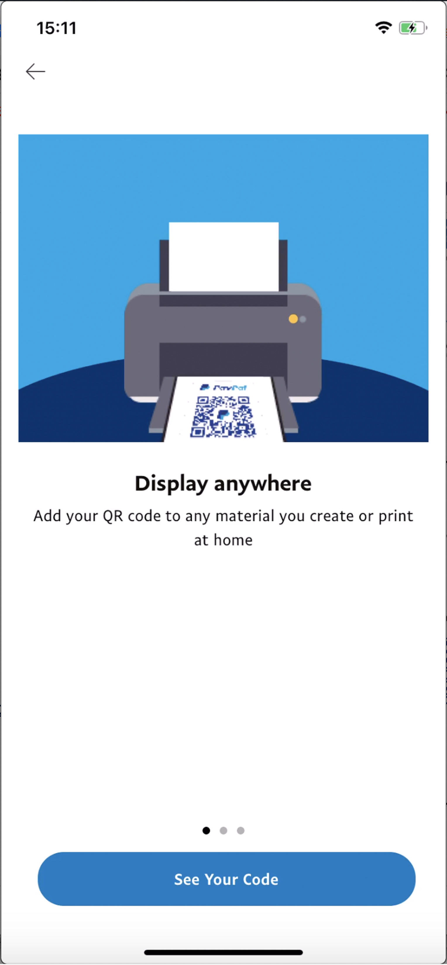 PayPal's new QR Code feature in its payment app