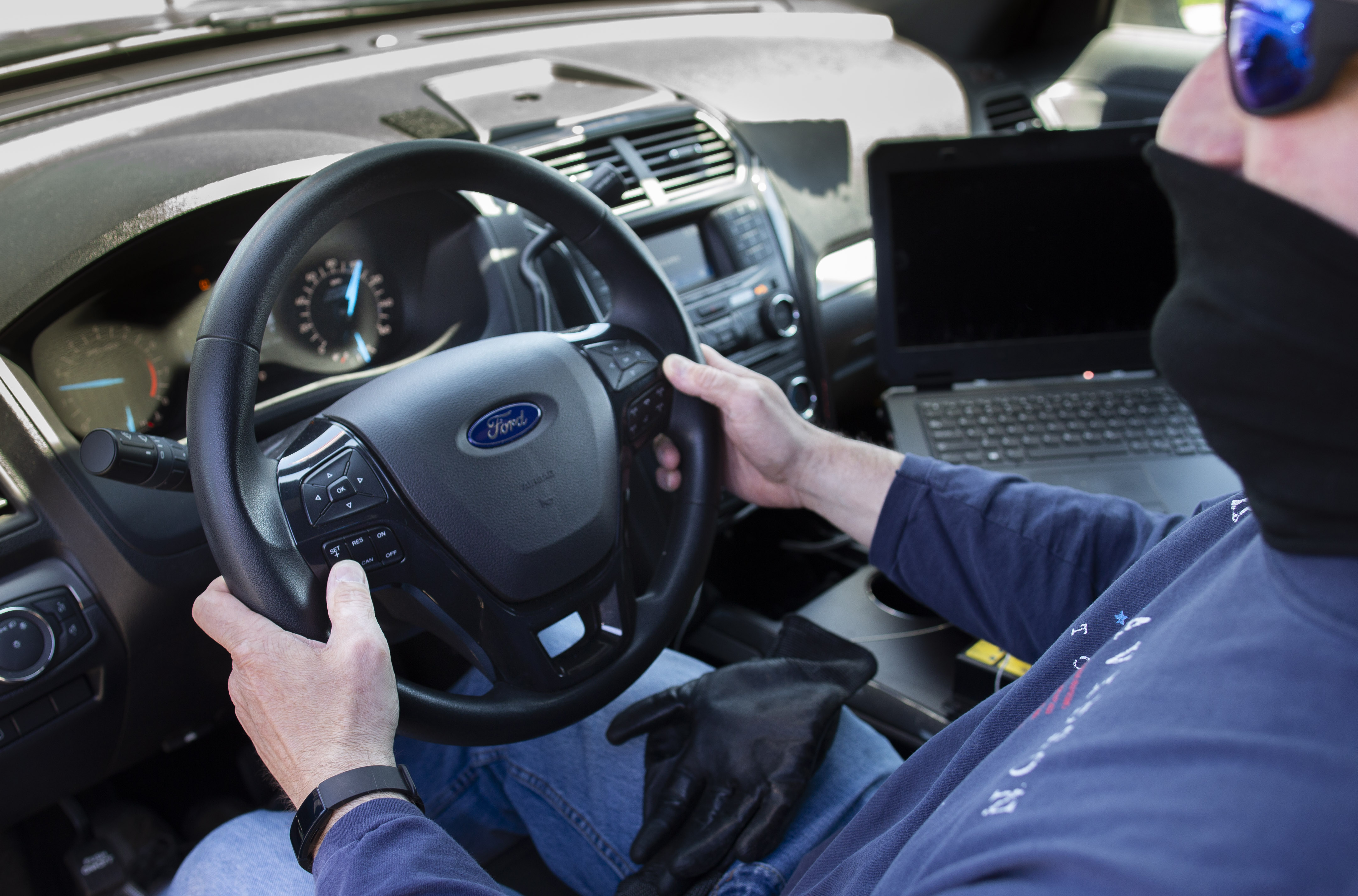 Sanitization Software in Police Interceptor Utility Vehicles