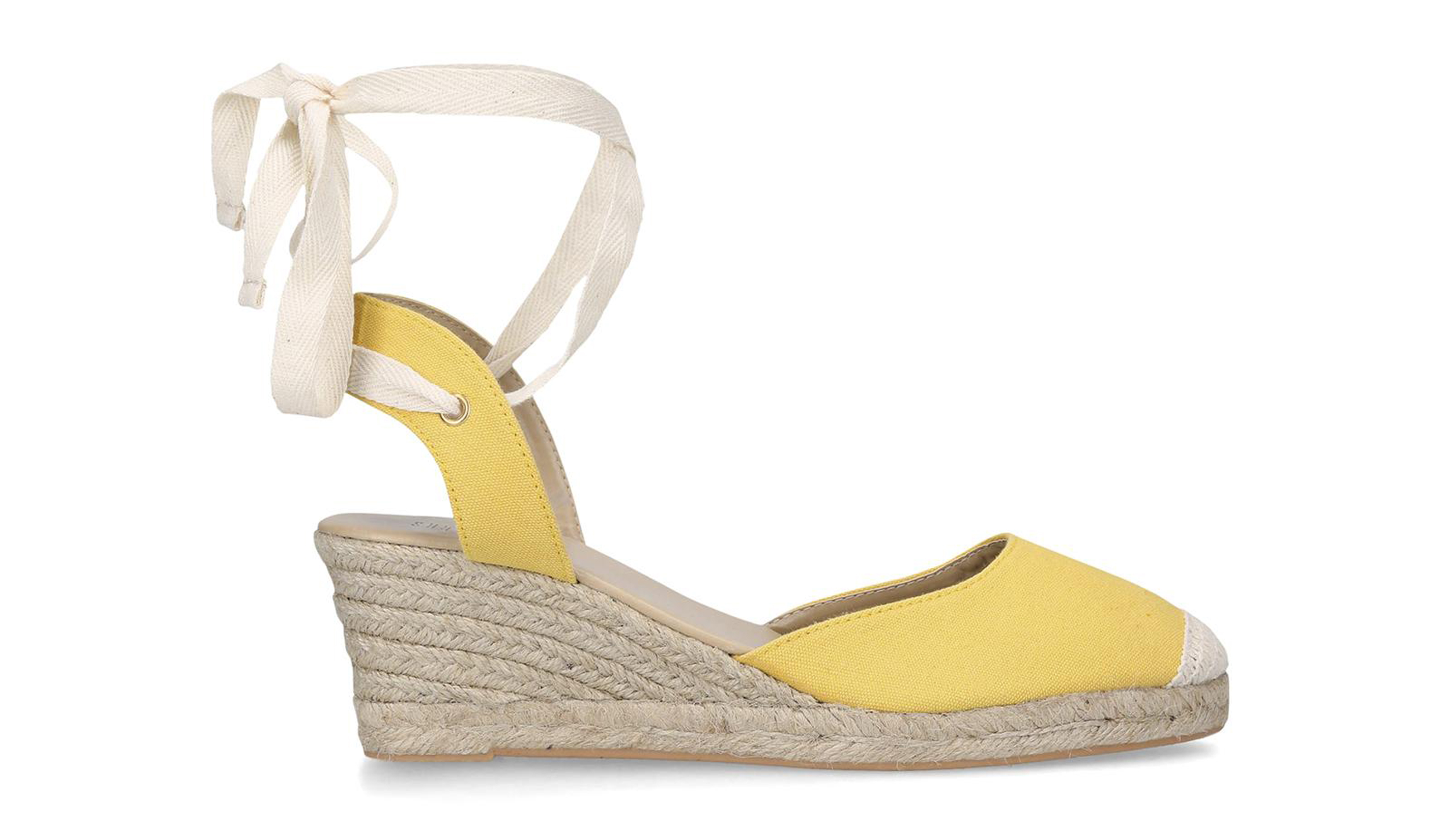 Shoeaholics Collection Cadiz Yellow Wedges