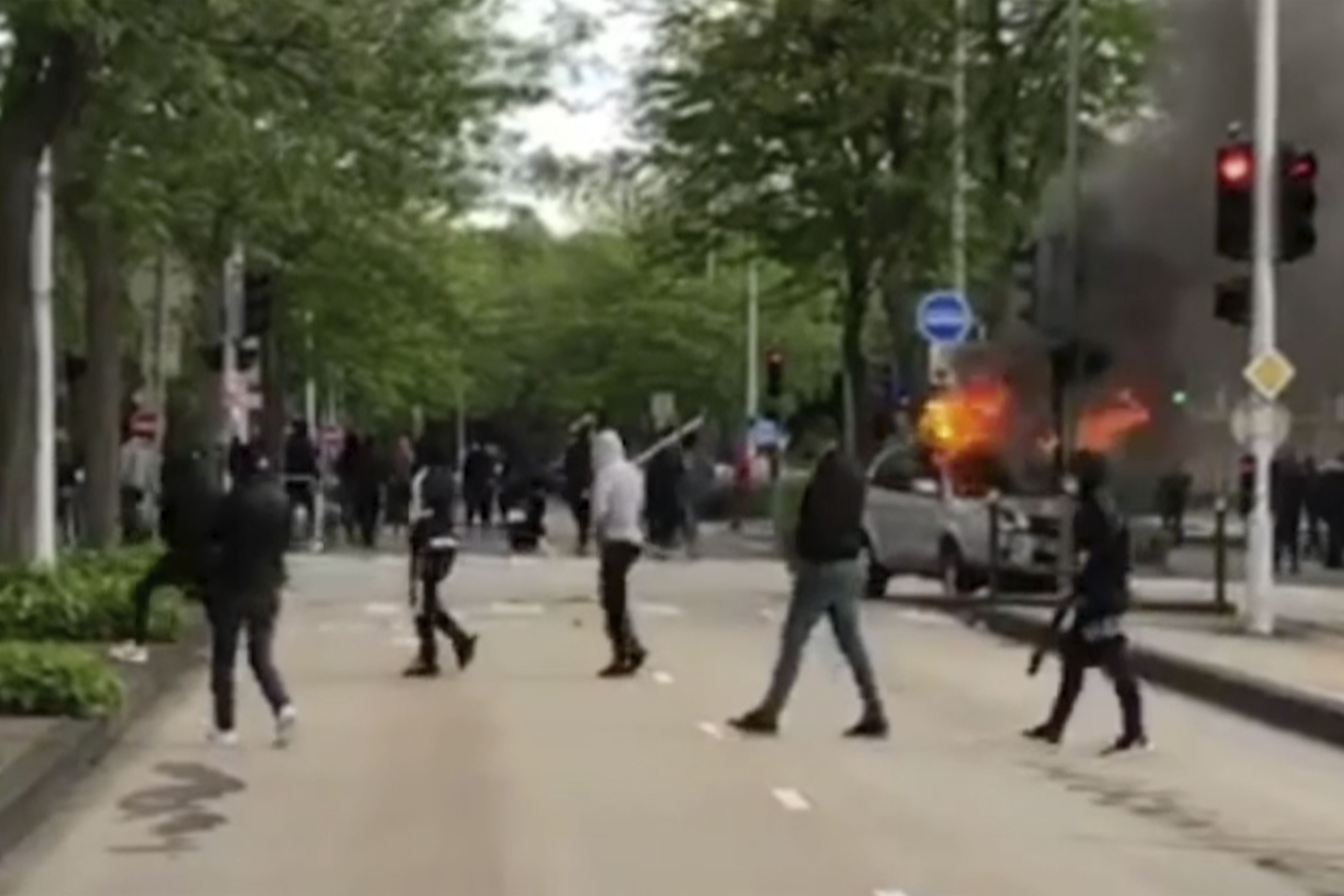 Youths on the streets in Dijon