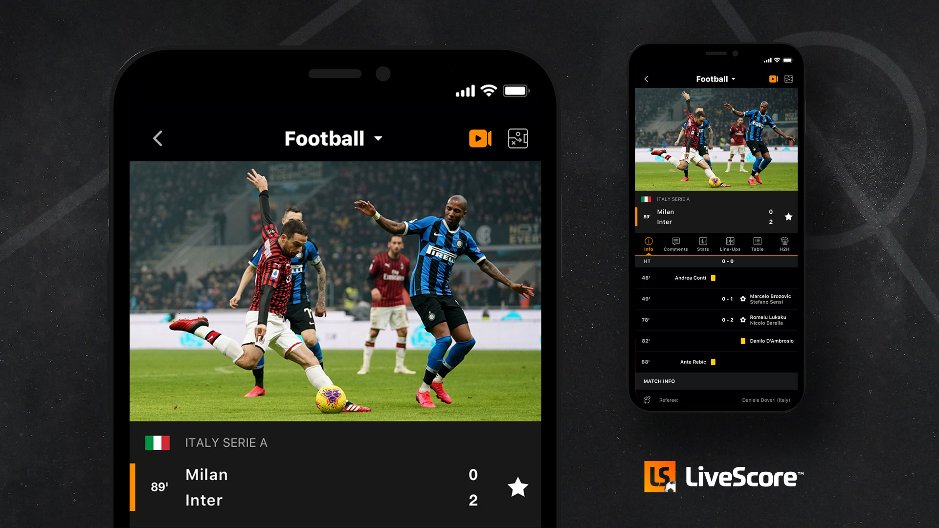 Serie A and the Portuguese Primeira Liga will be available on LiveScore's app