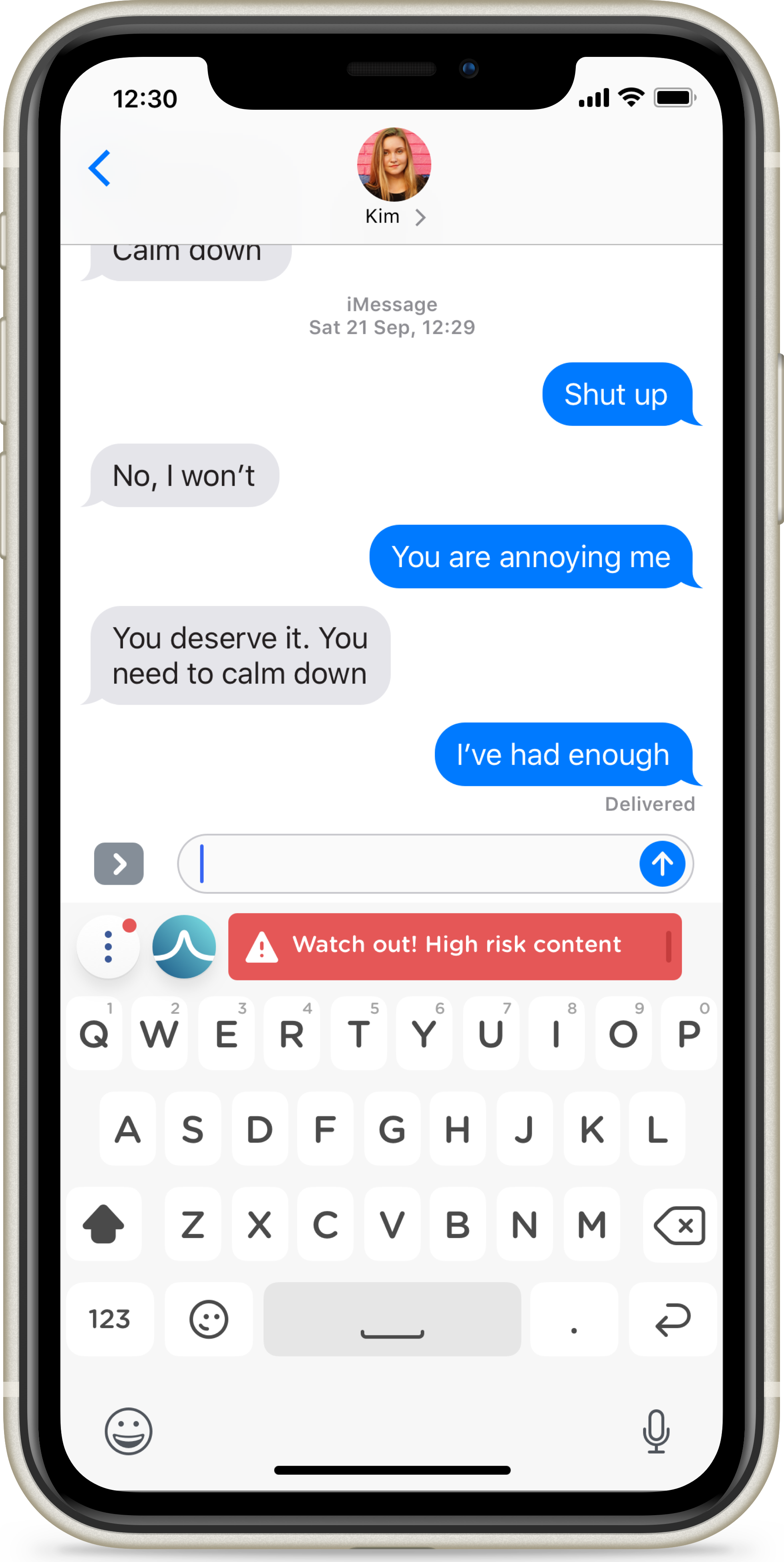 The SafeToNet app identifies potentially harmful messages in a bid to stop cyberbullying and sexting among children (SafeToNet/PA)