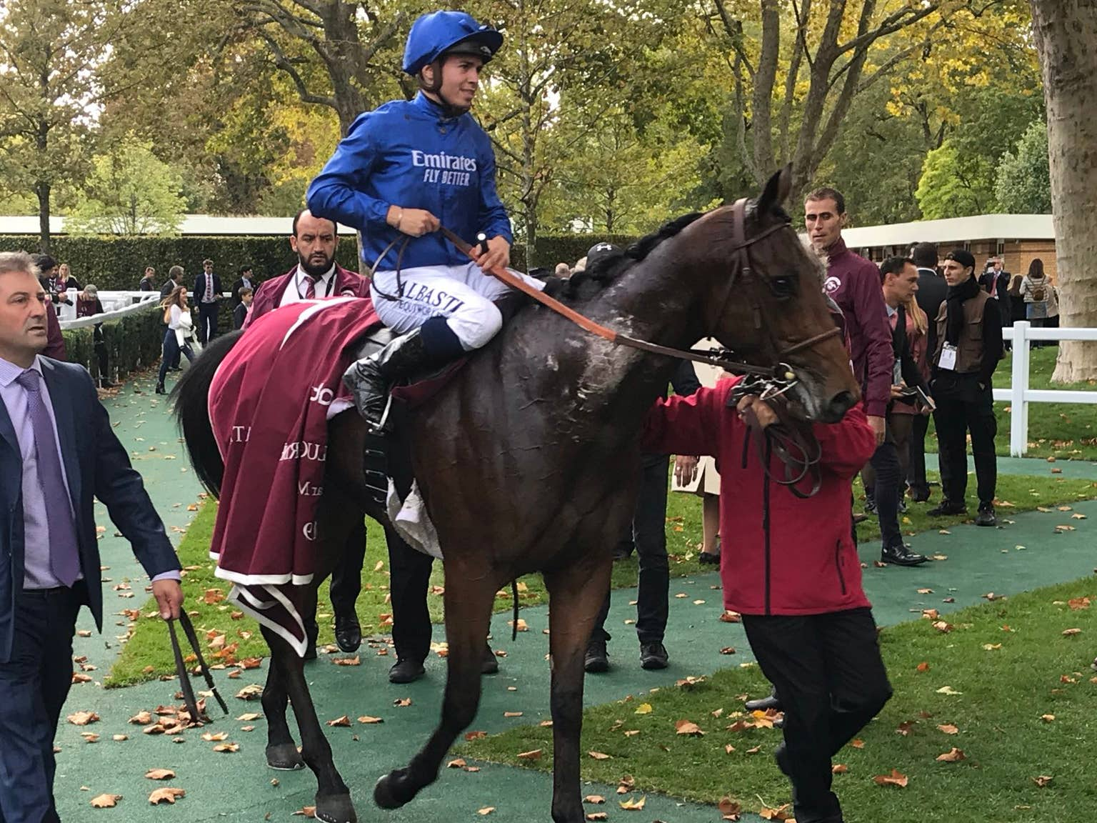 Victor Ludorum ould finish only third in the French Derby (PA)