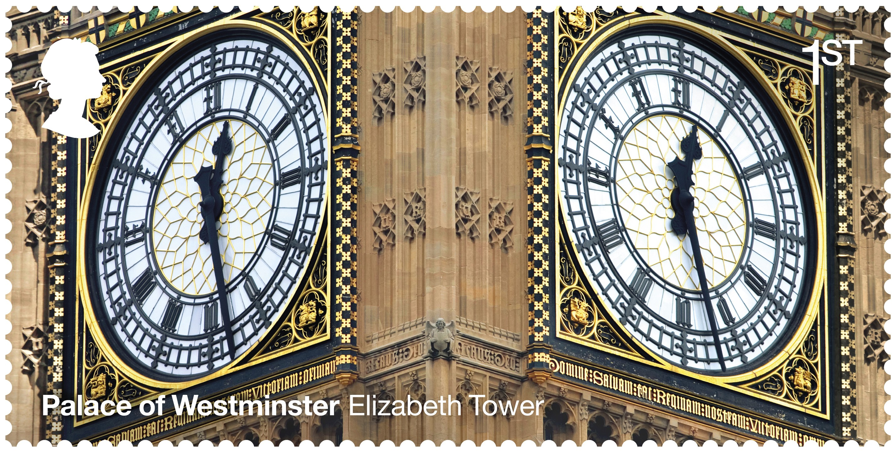 The stamps have been released to celebrate 150 years since the Palace of Westminster was rebuilt