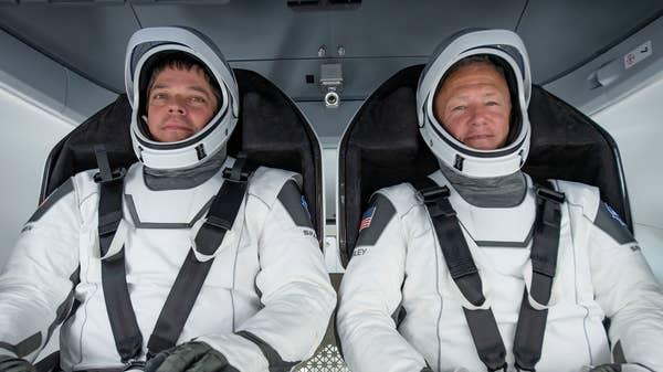 Nasa astronauts set for first splashdown return in 45 years