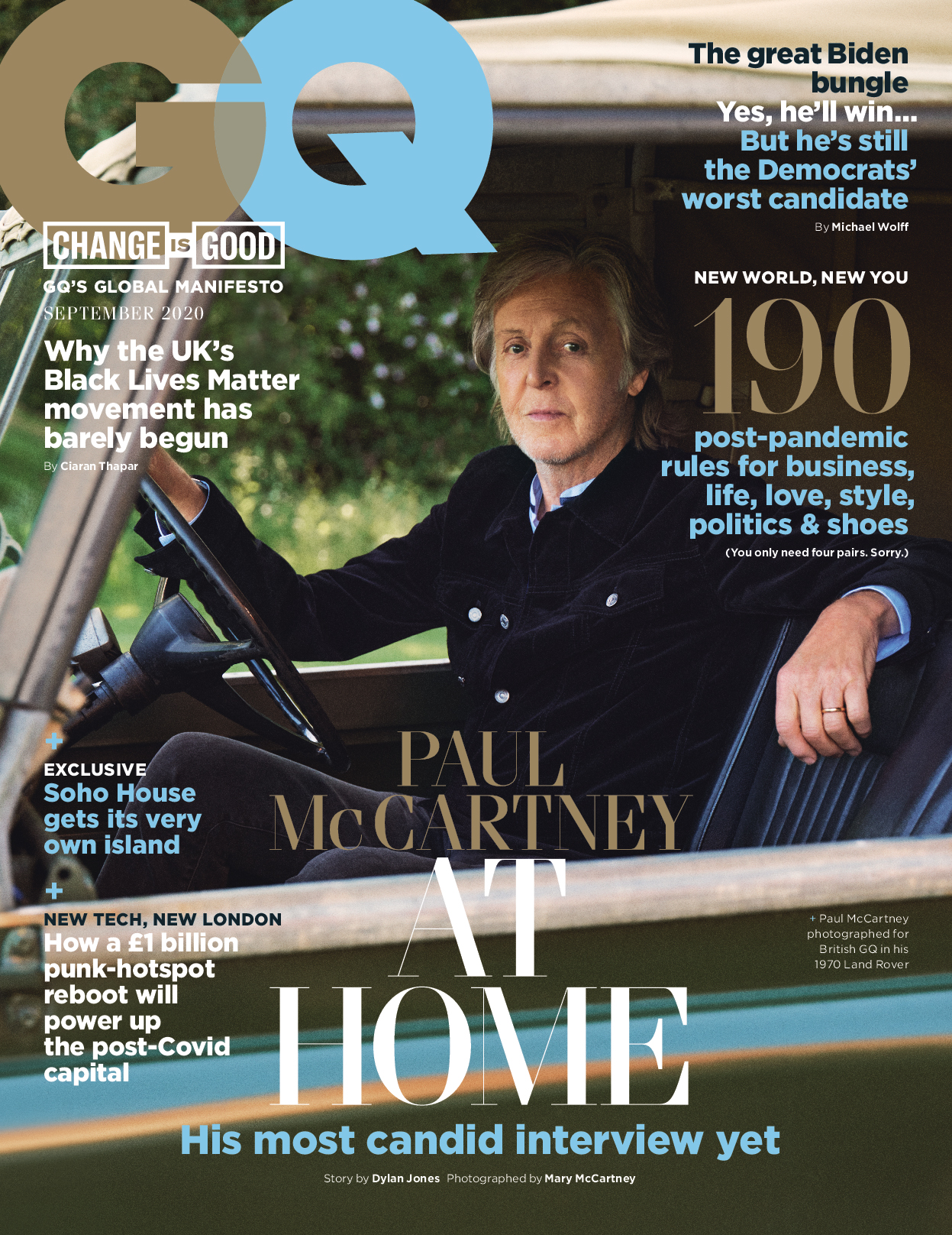 Sir Paul McCartney on GQ magazine