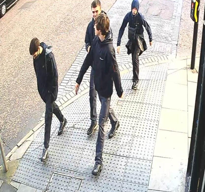Four men who police want to speak to in connection with the murder of Steven McMyler