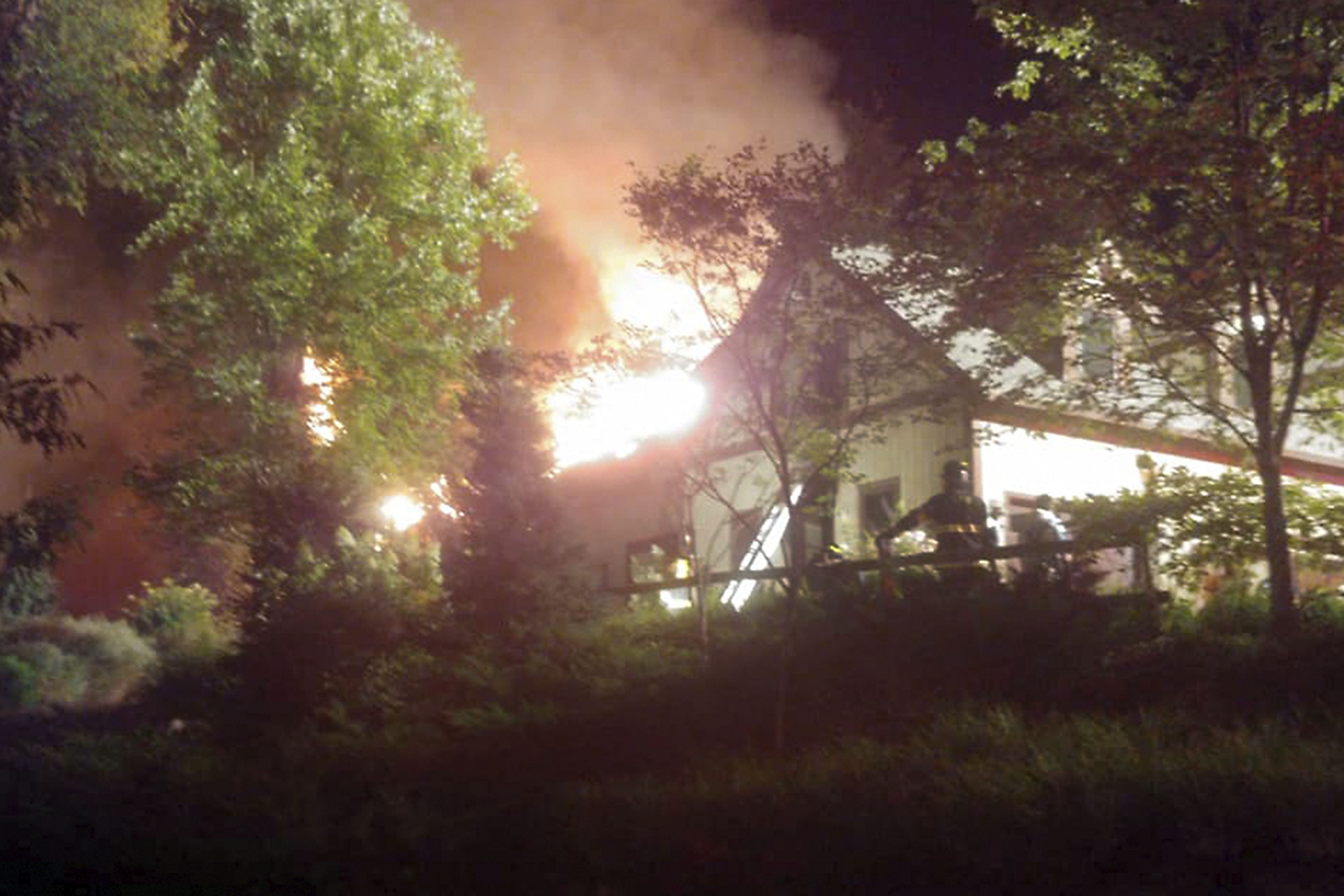 Rachael Ray's home on fire in Lake Luzerne, New York