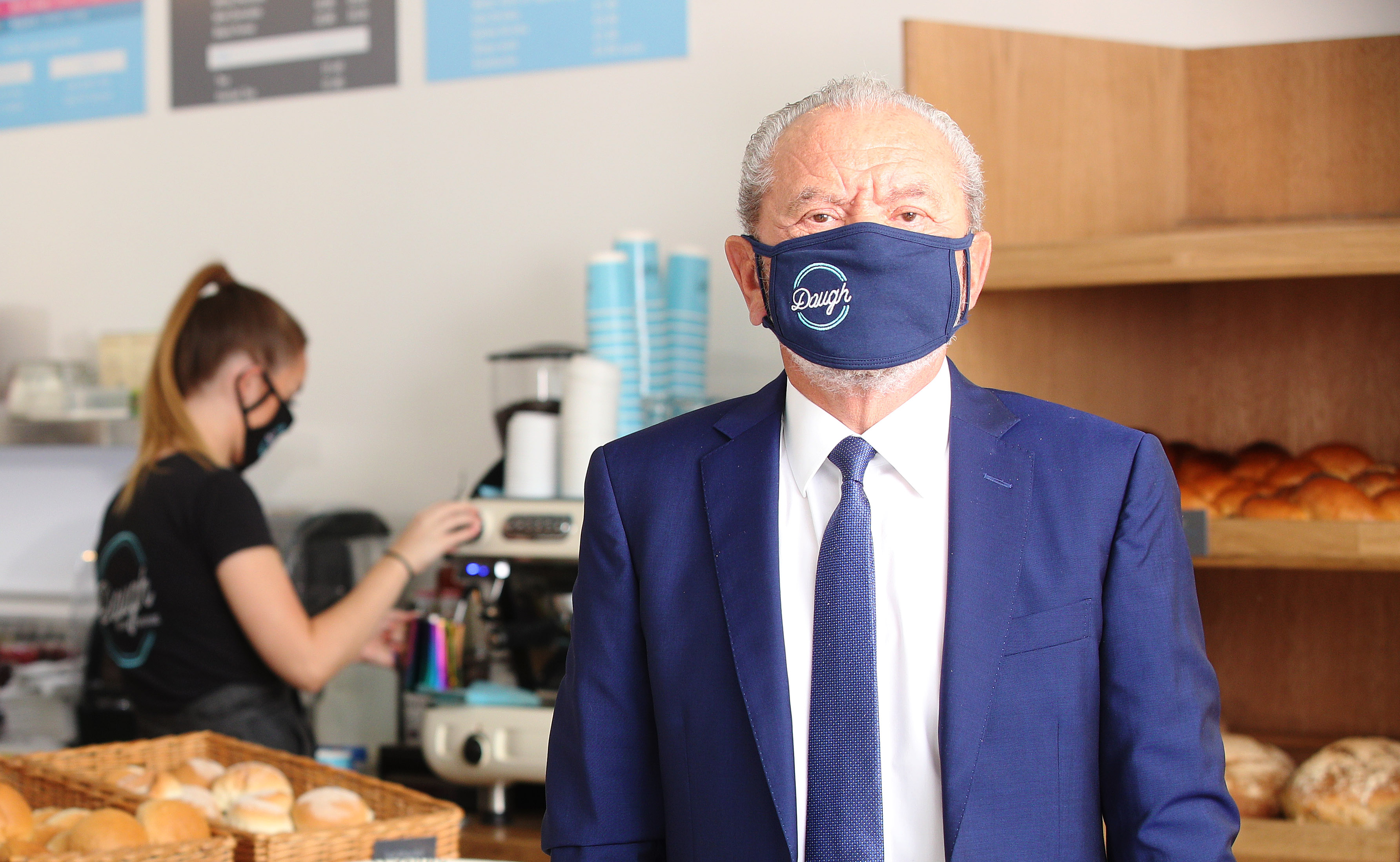 Lord Sugar joins The Apprentice winner for Dough Bakehouse branch opening, London, 8th September 2020
