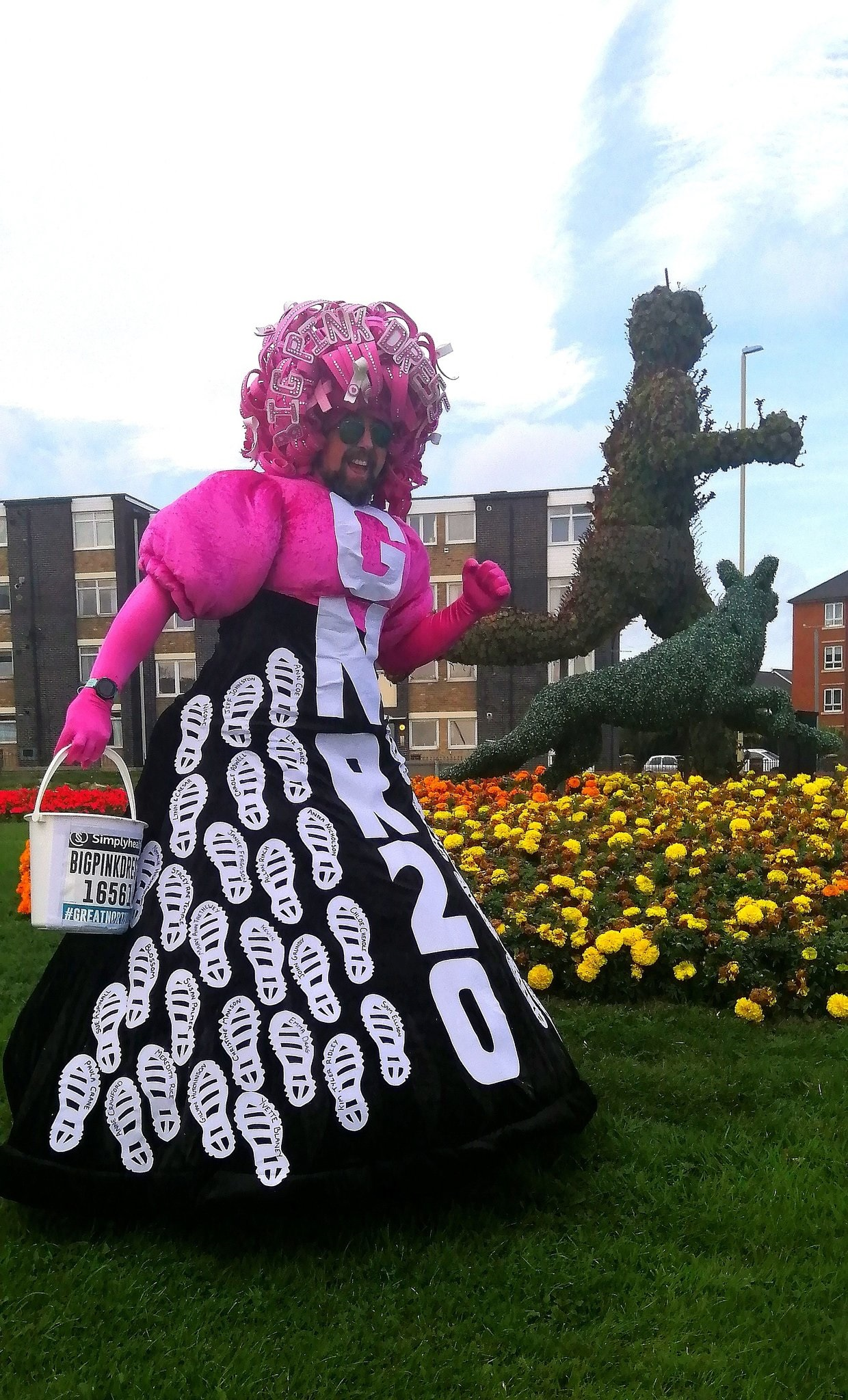 Colin Burgin-Plews, from South Shields, who is known for running various races in a pink dress