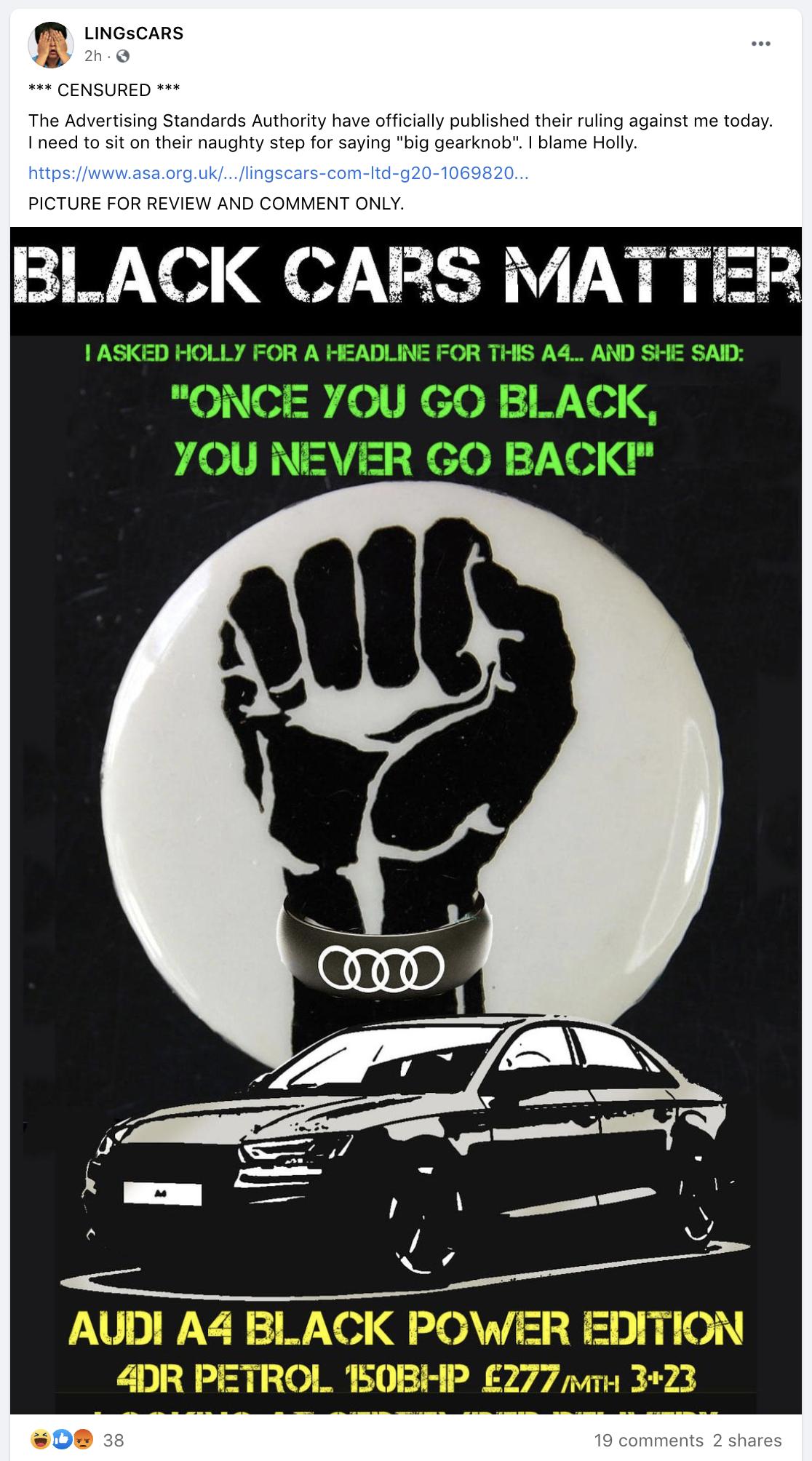 Black Cars Matters