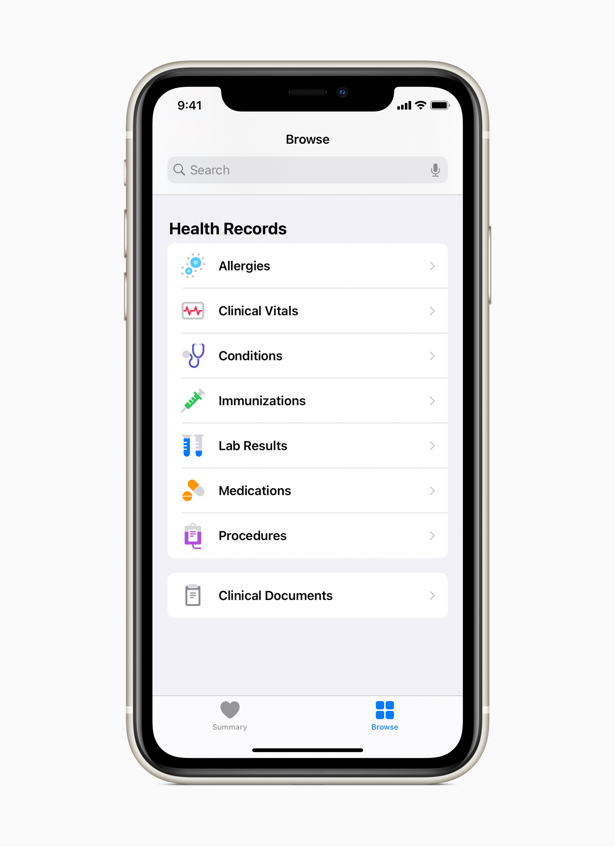 Health Records on iPhone