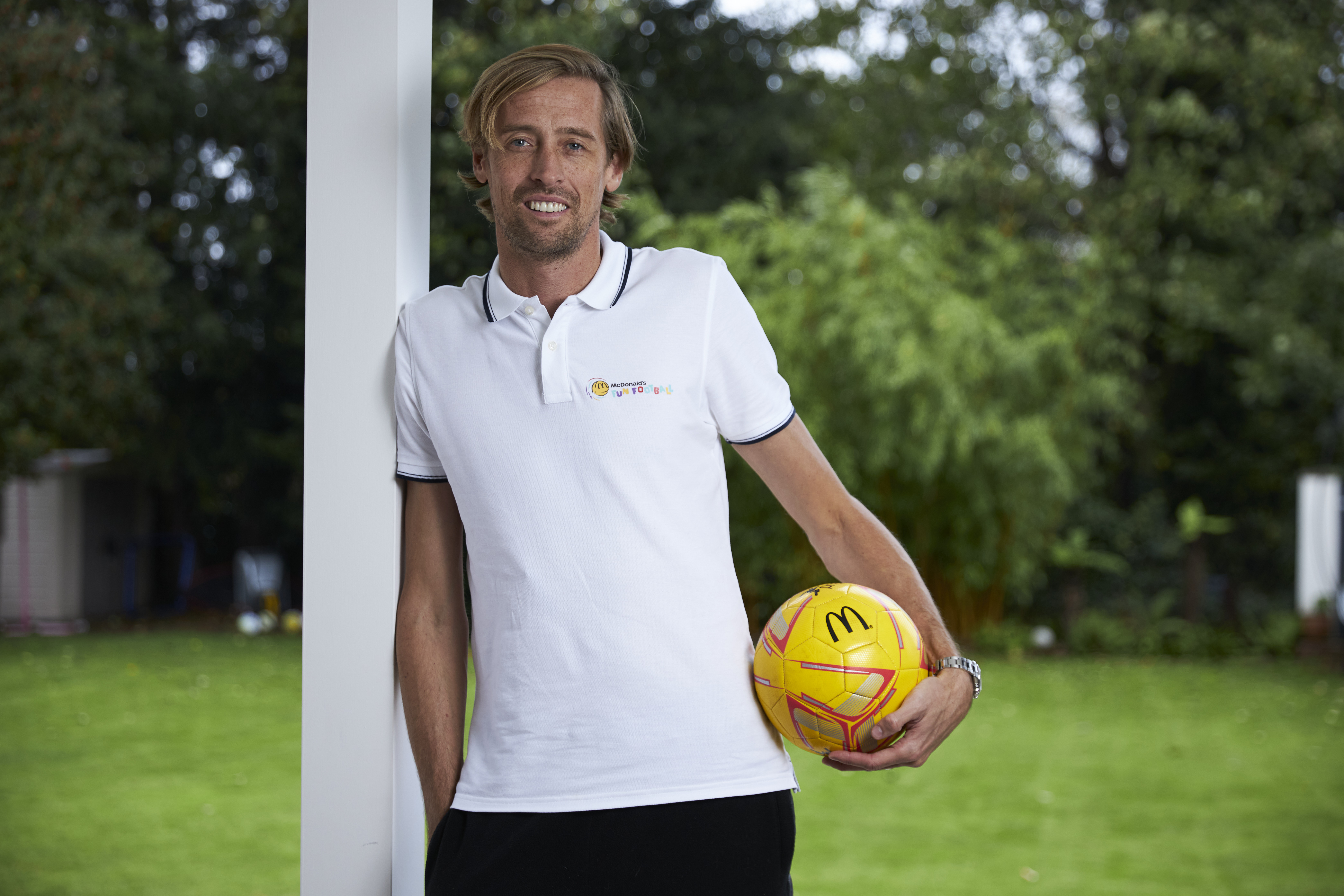 Peter Crouch is working with McDonalds to host a Fun Football session during half-term