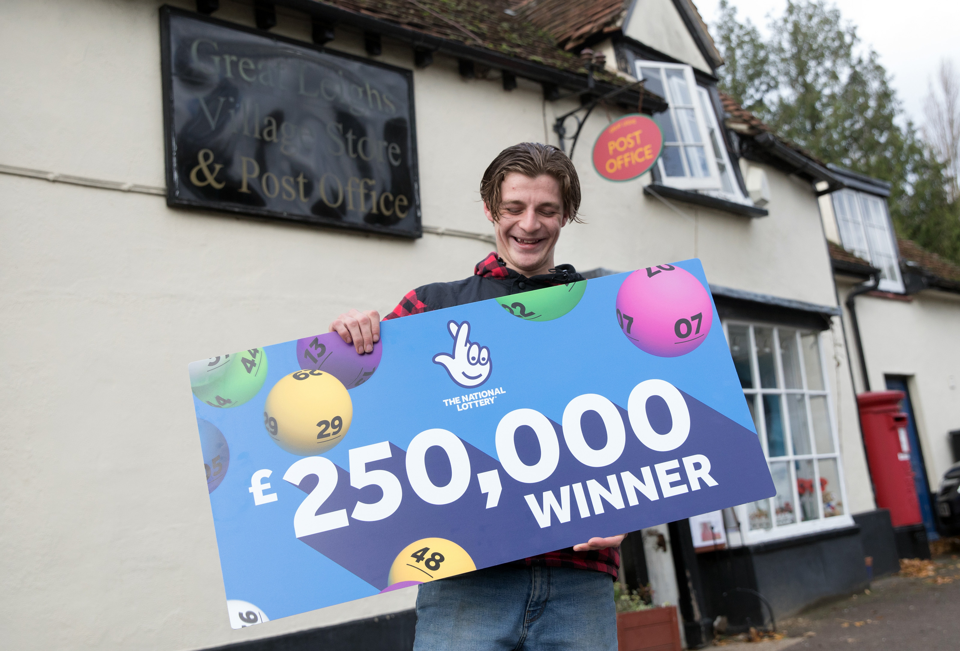 Digger driver George Bates plans to use some of his winnings to buy a hot tub for his garden. (National Lottery/ PA)