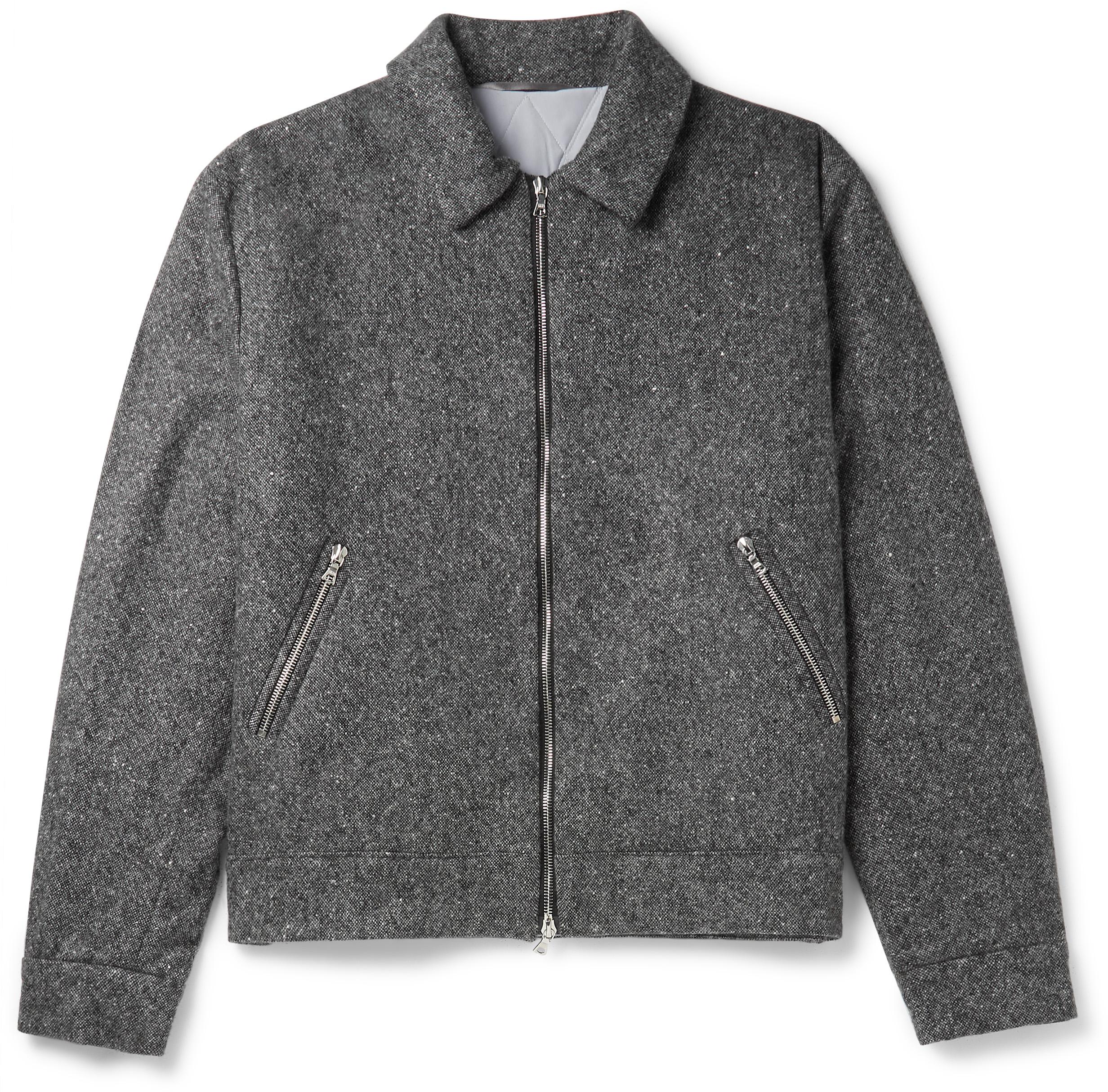 Padded cashmere bomber jacket
