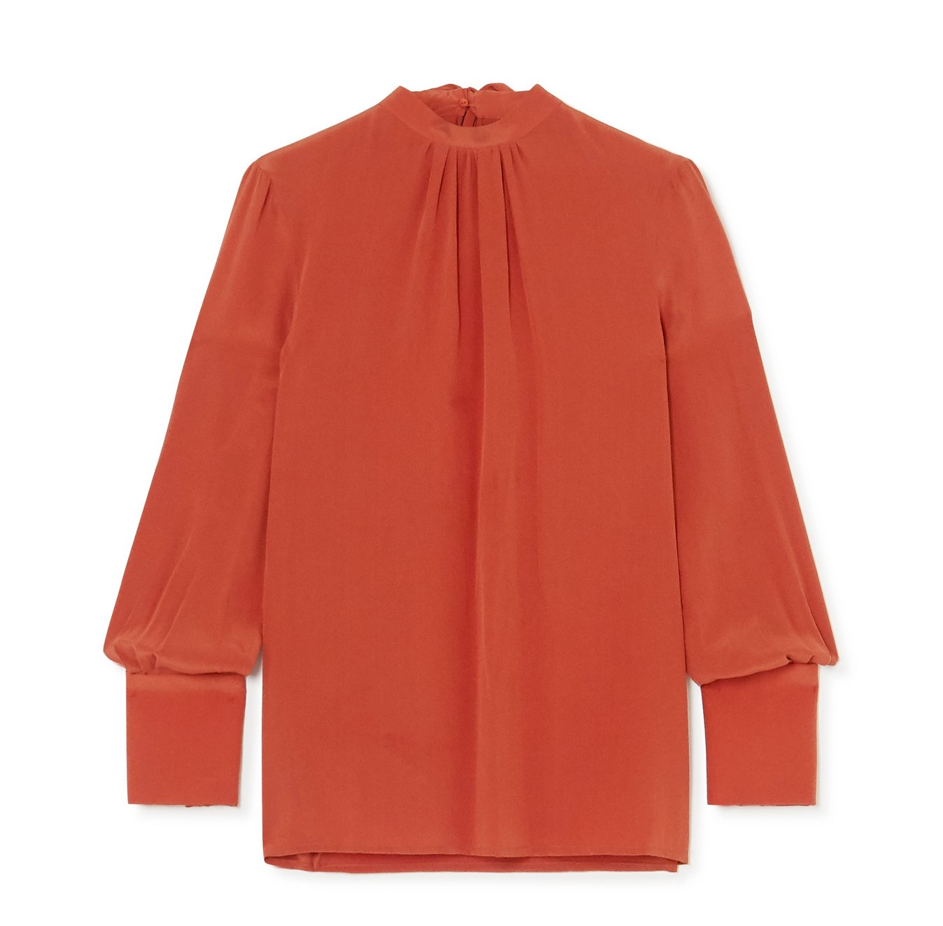 The pussy-bow silk blouse