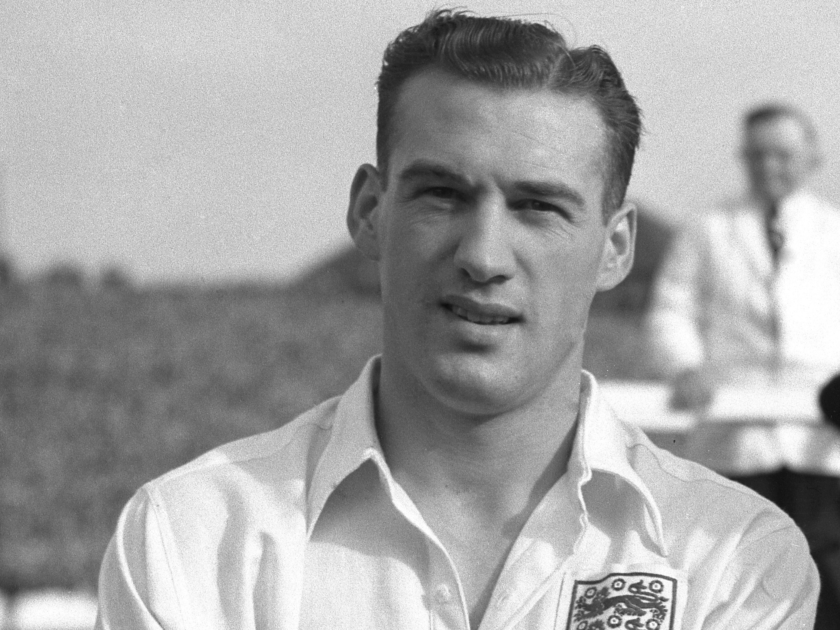 Nat Lofthouse scored two of his 30 England goals in the World Cup draw with Belgium.