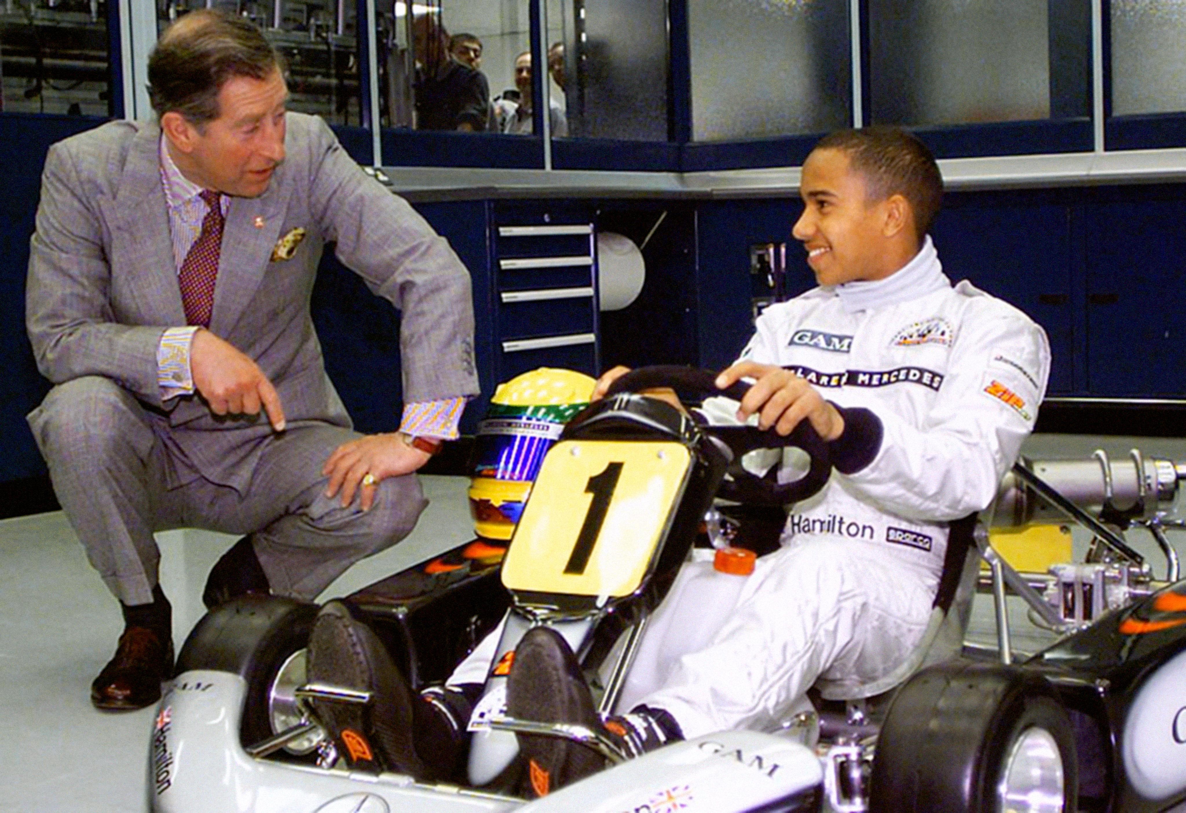 Lewis Hamilton and Prince Charles