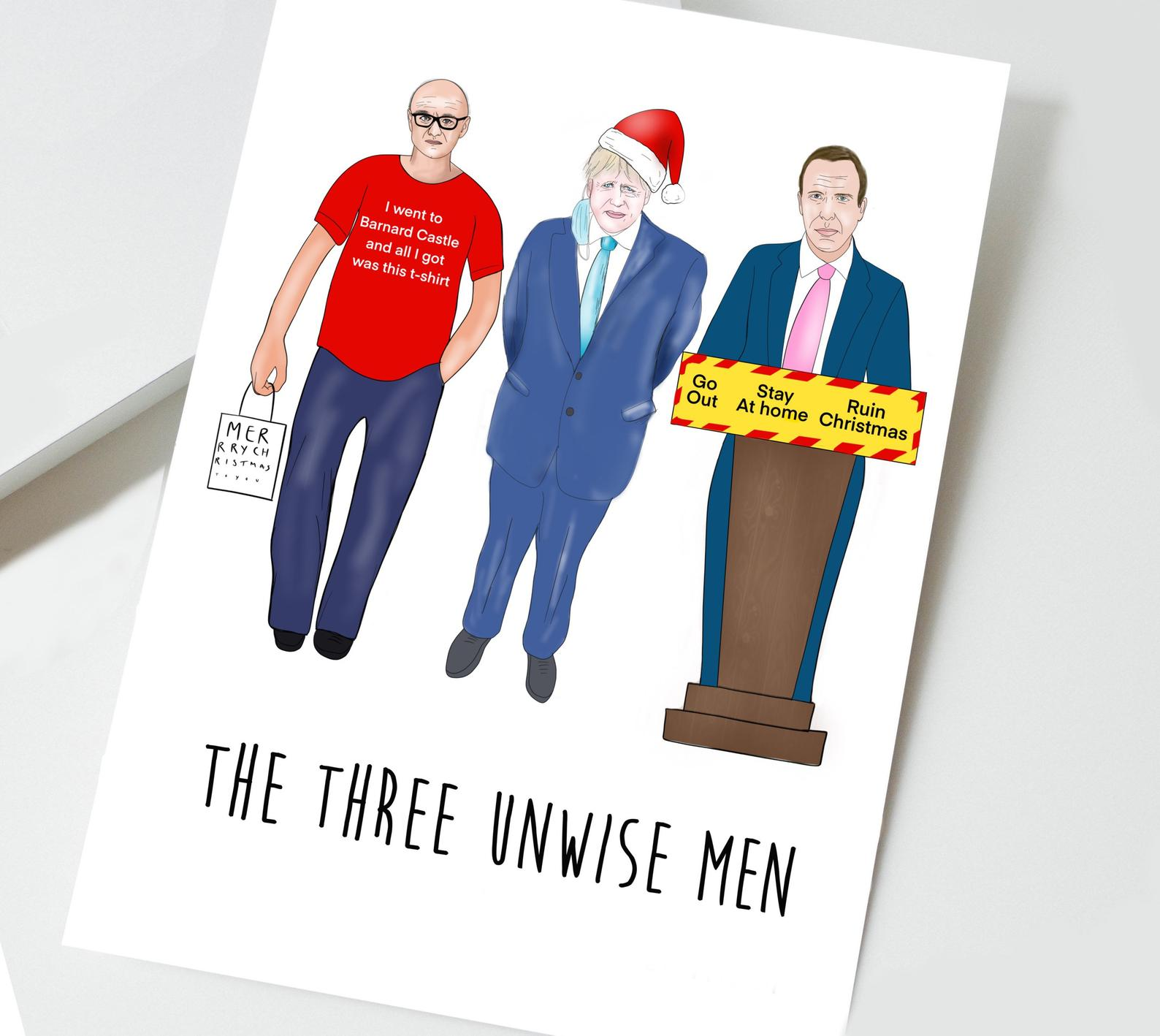 The Amyverse's Three Unwise Men card design