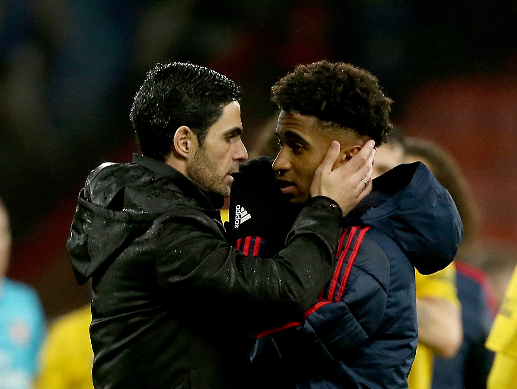 Arteta (left) has been impressed with Nelson's willingness to learn.