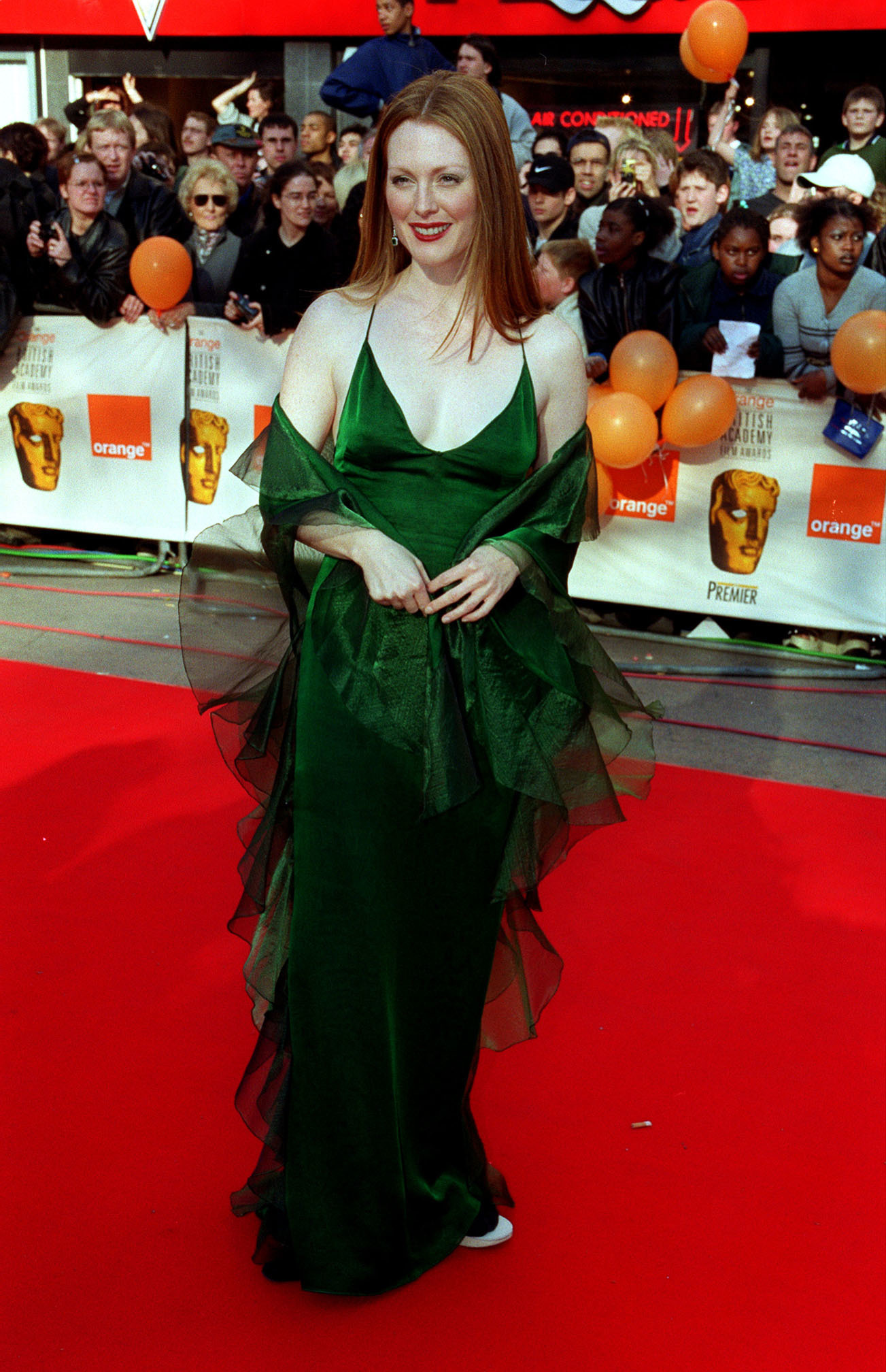 Julianne Moore at the BAFTAs in 2000