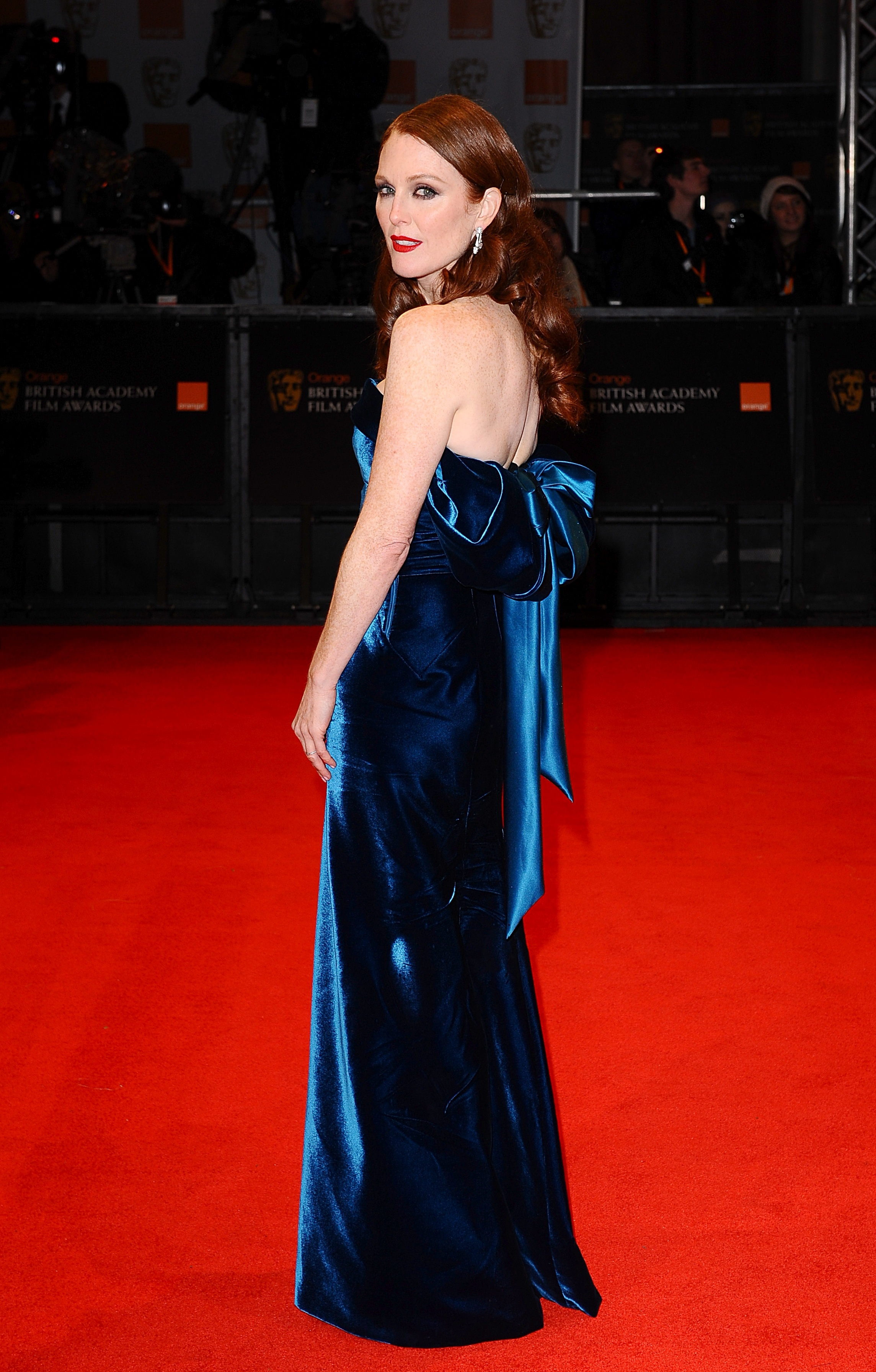 Julianne Moore at the Baftas in 2011