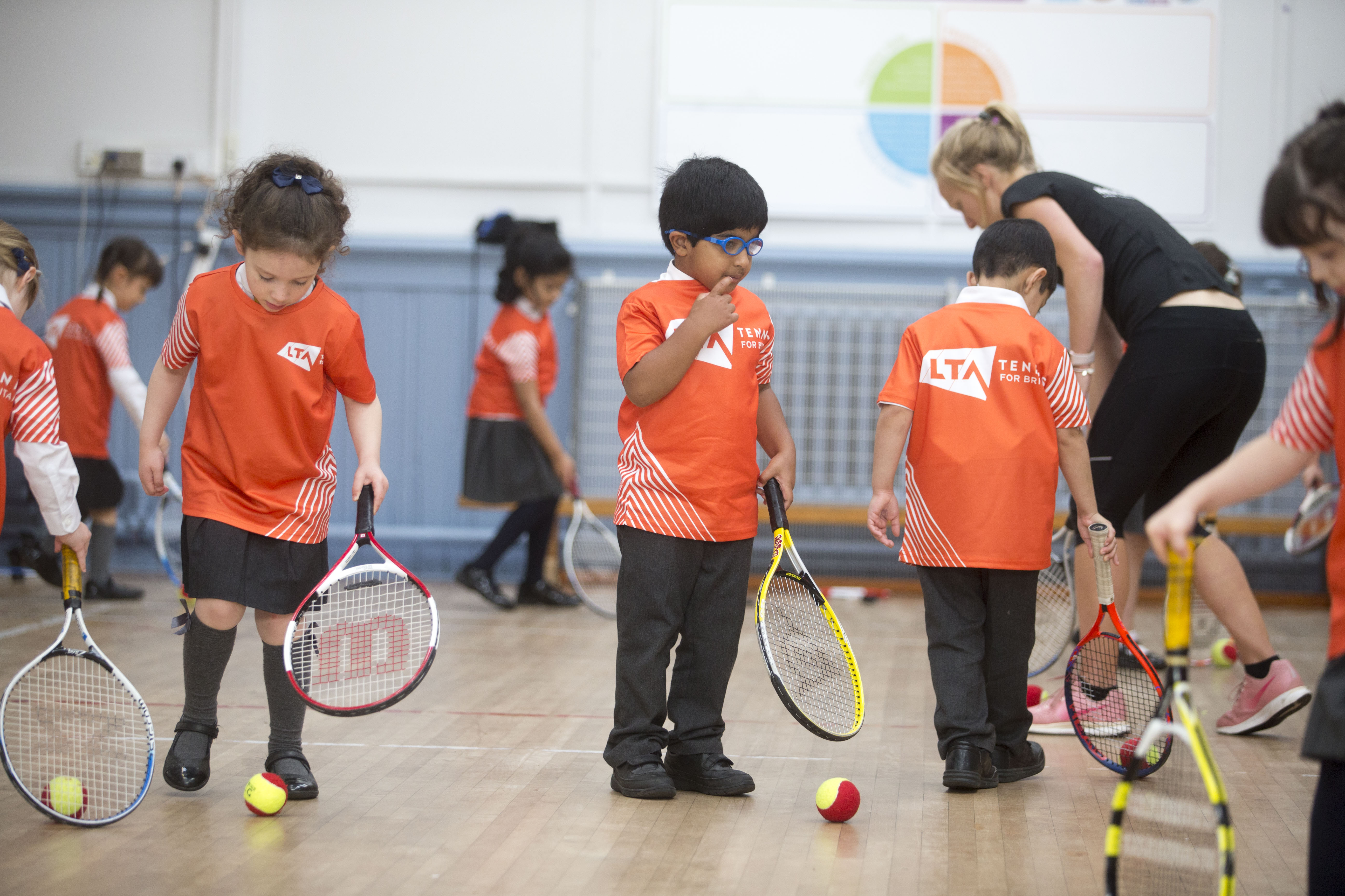 Almost 100,000 children have taken part in Tennis for Kids in the UK