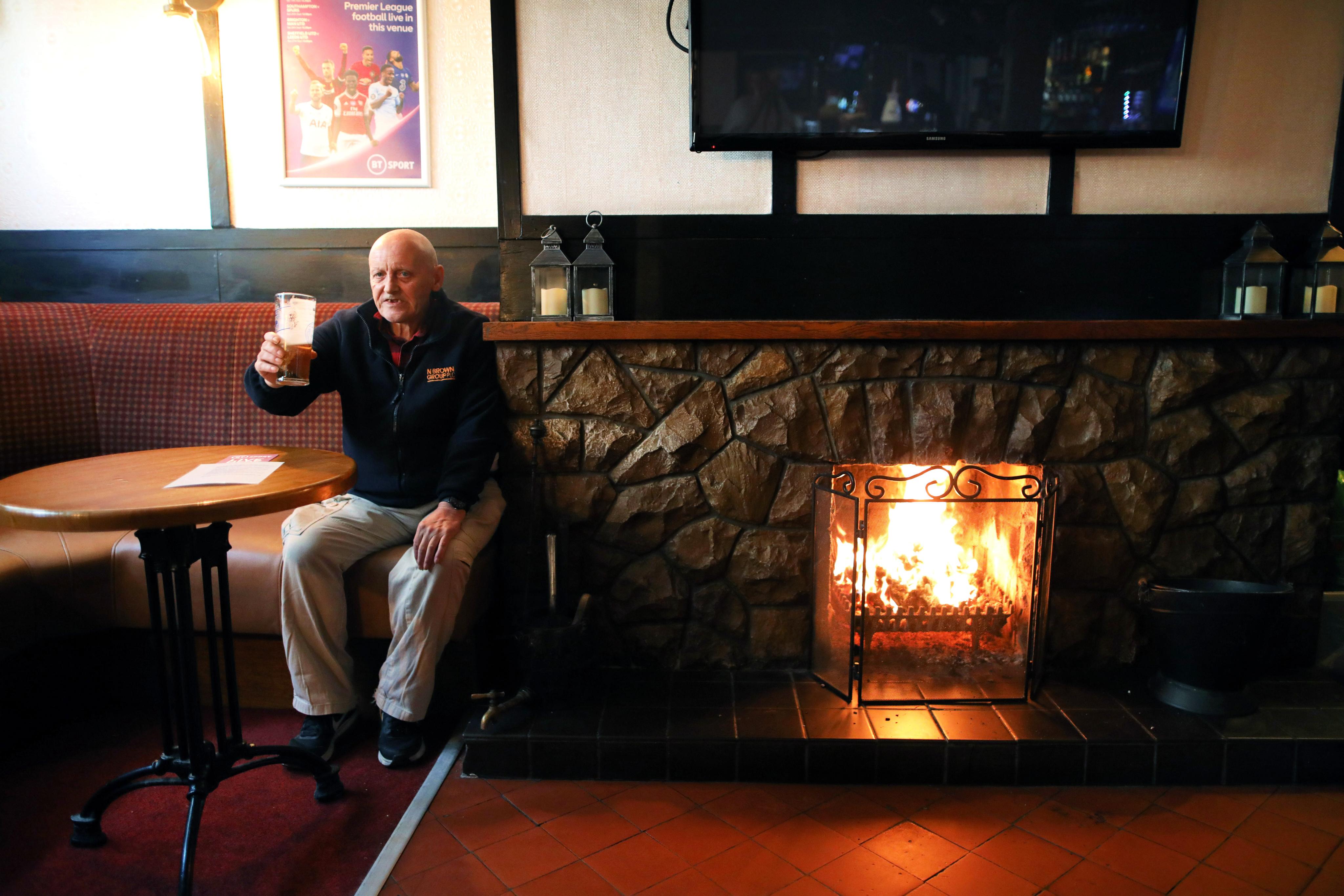 Man enjoys a pint