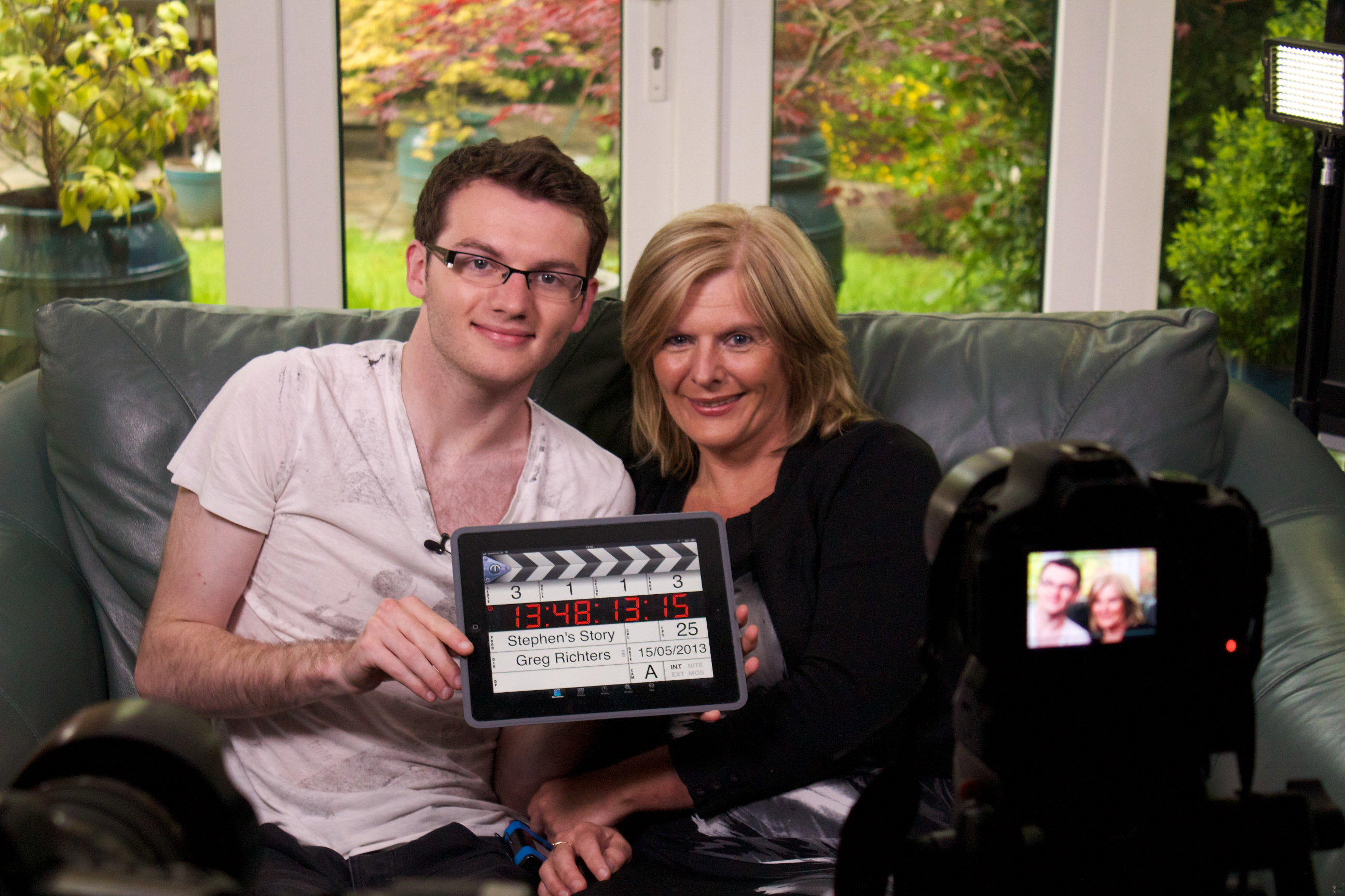 Stephen Sutton with his mother Jane Sutton