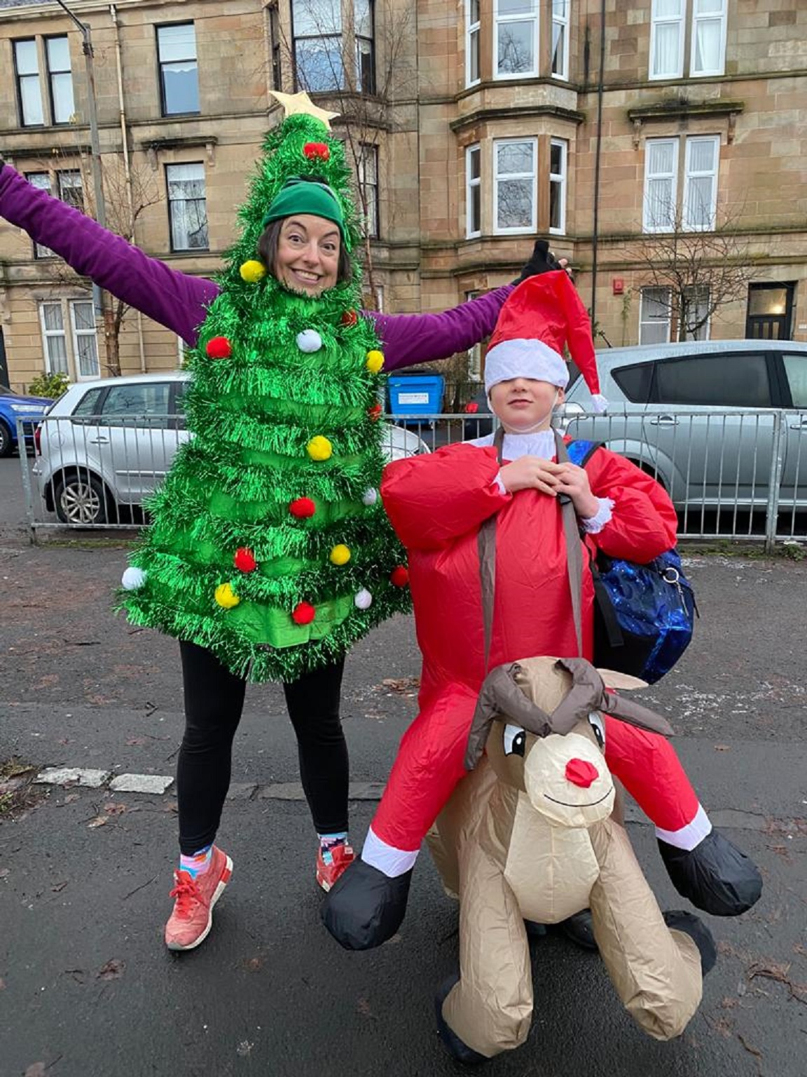 Kate E. Deeming is running and dancing in Scotland dressed as a Christmas tree to raise money for charity