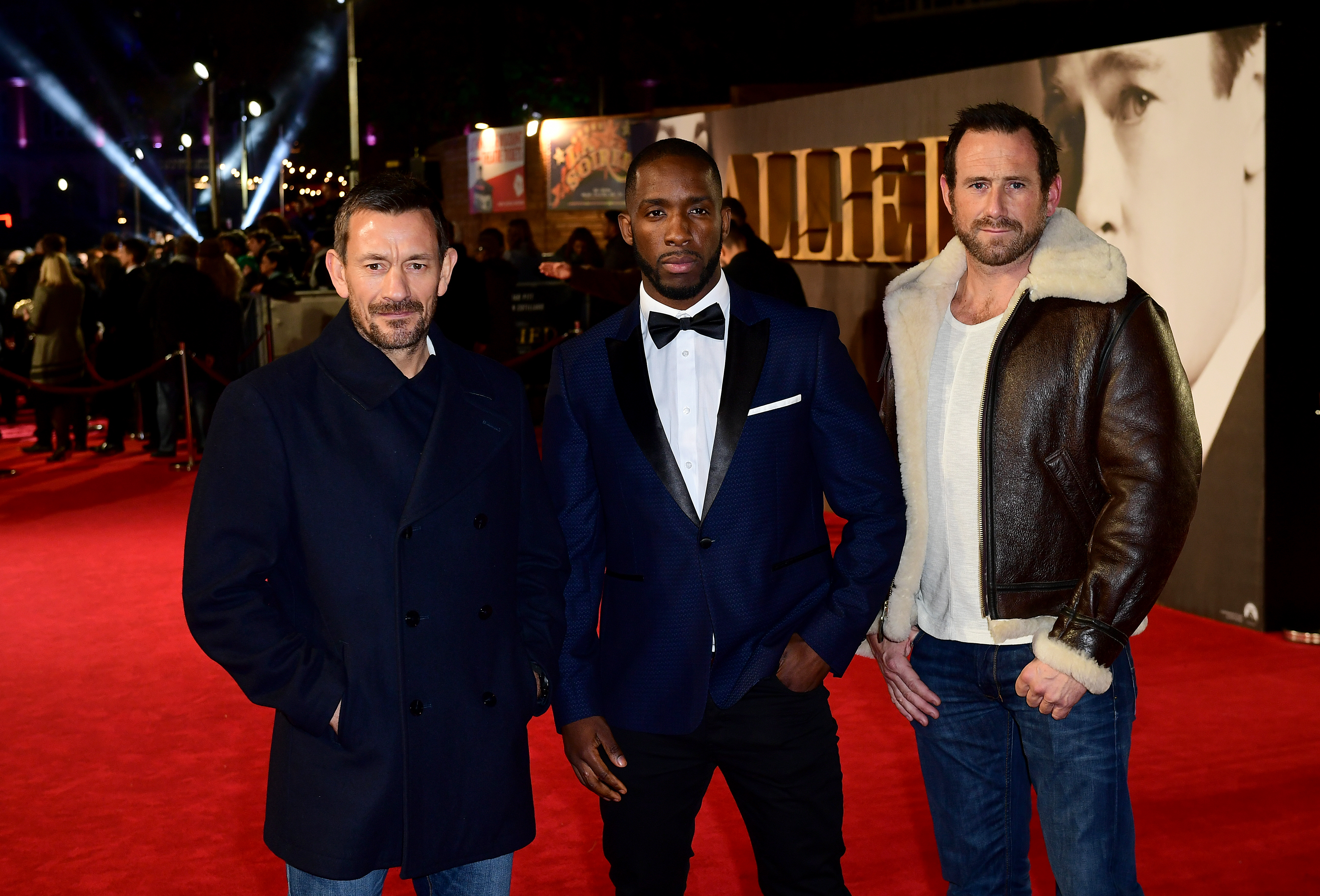 Ollie Ollerton, Moses Ican and Jason Fox at the Allied premier in 2016 (Ian West/PA)