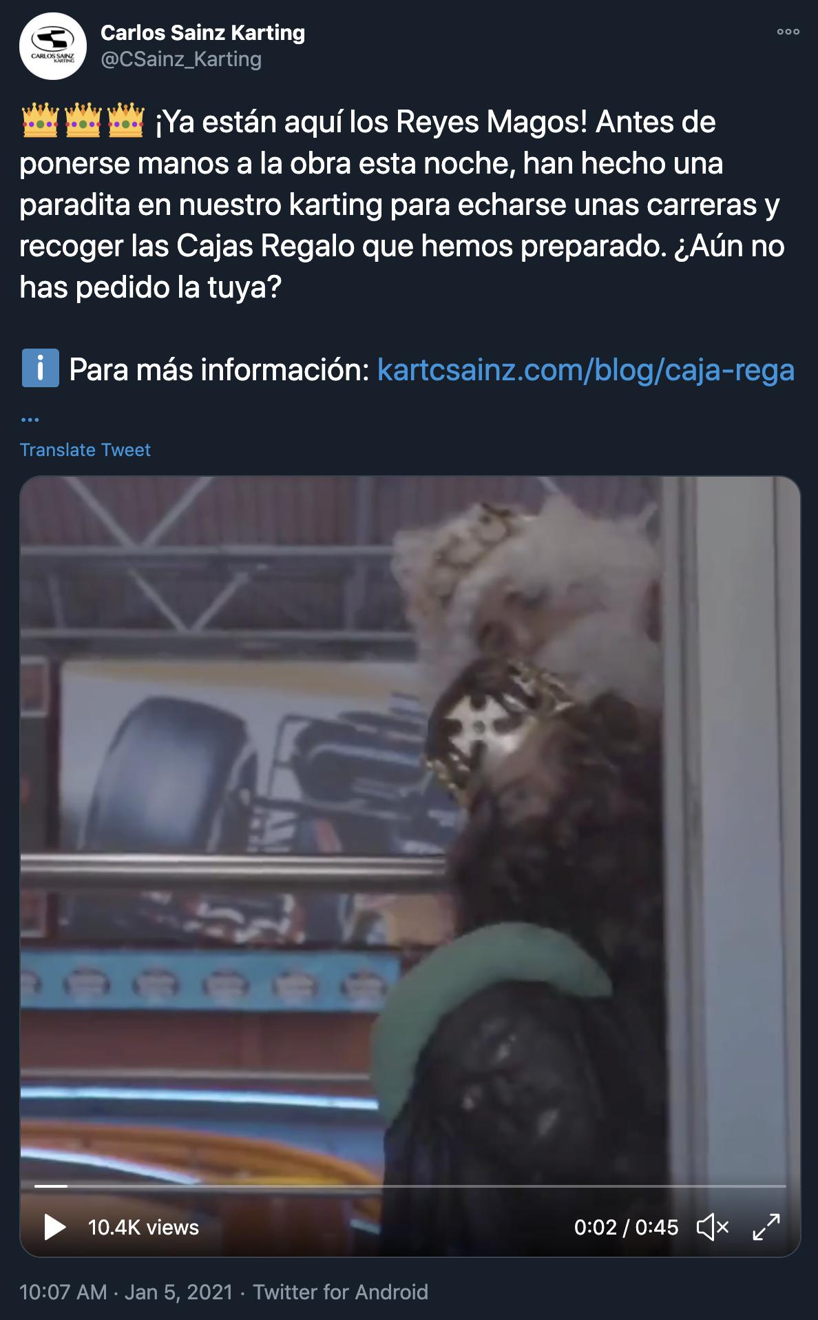 Carlos Sainz Karting Blackface Tweet