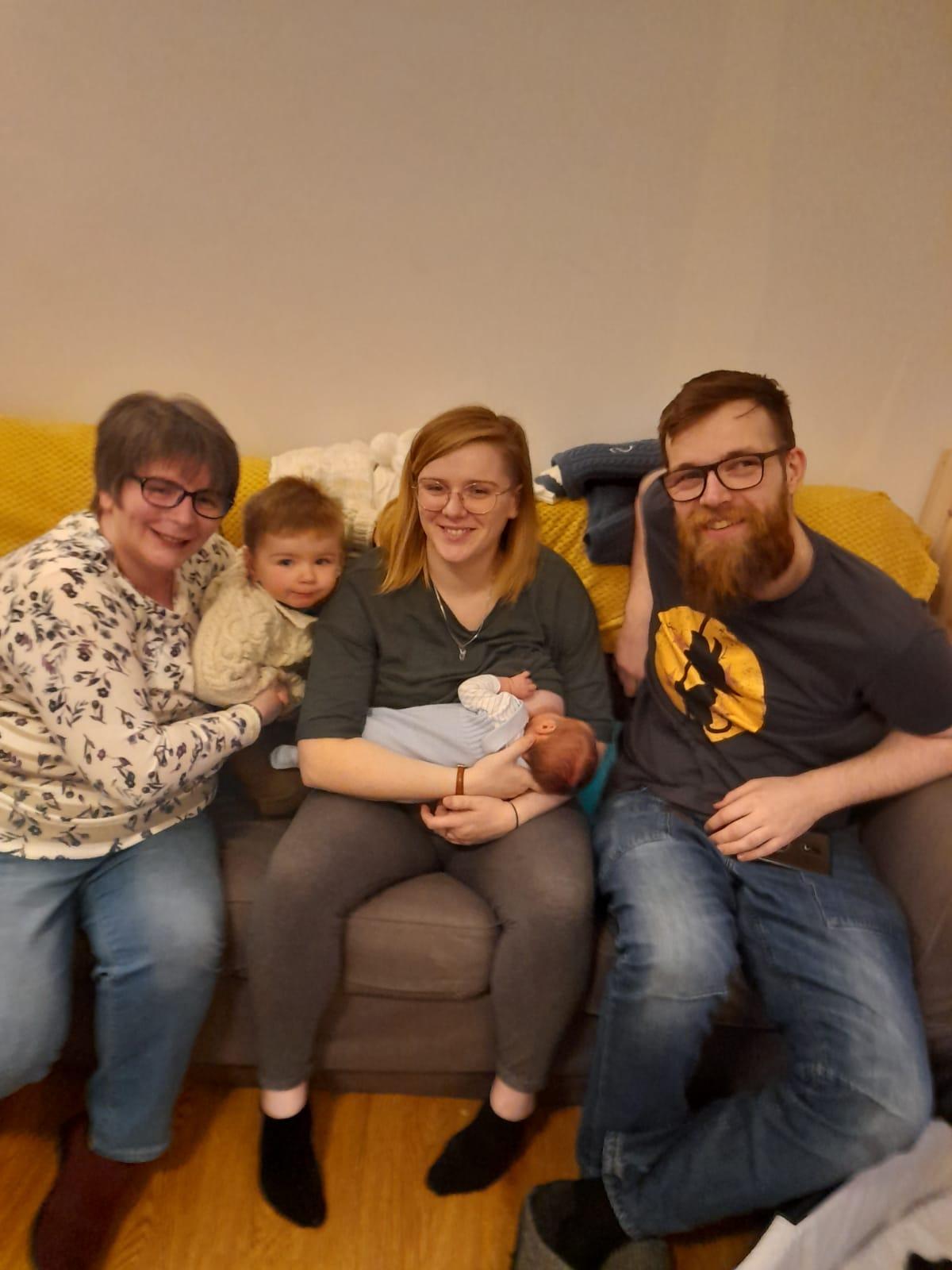Finn with family